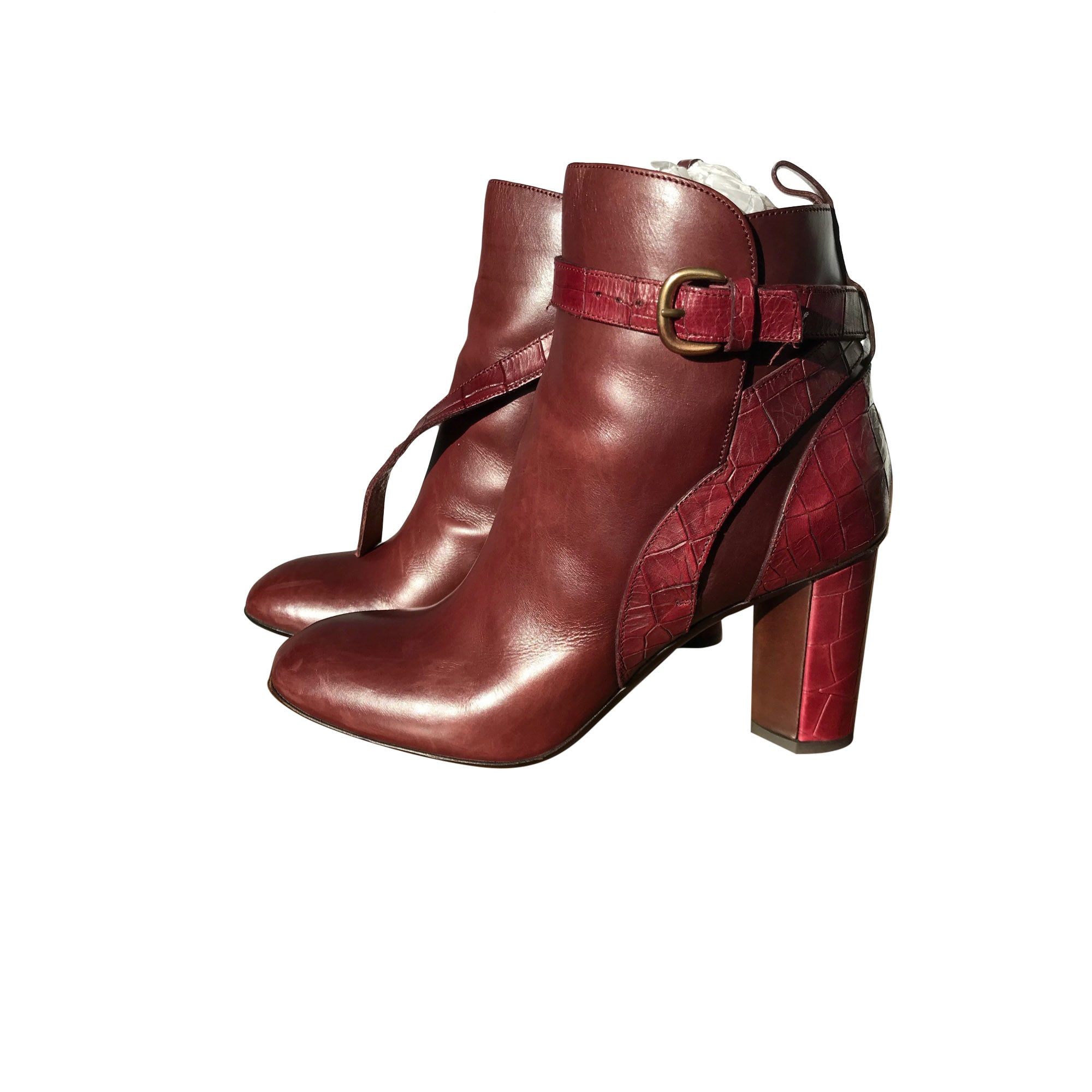 High Heel Ankle Boots SARTORE Red, burgundy