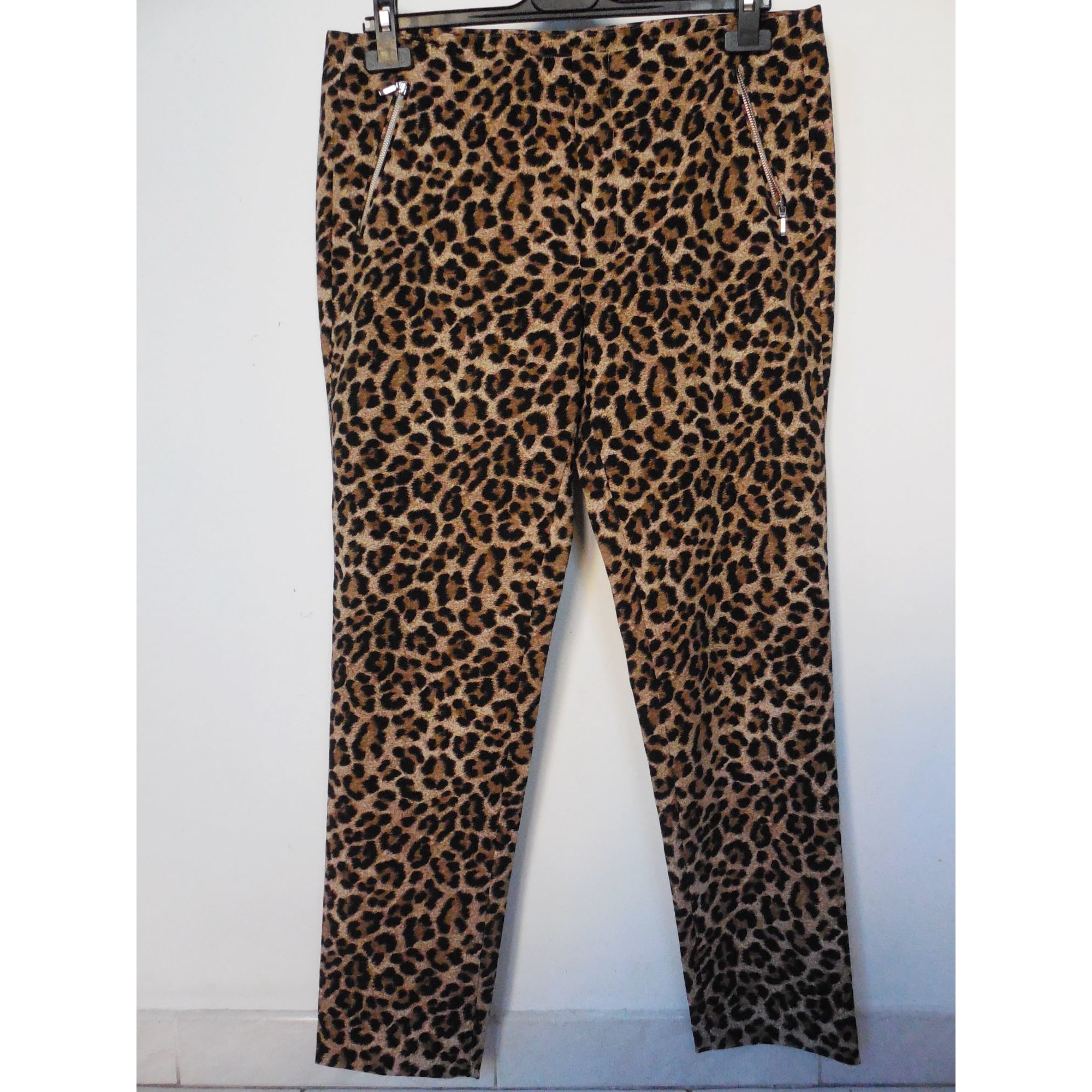 Pantalon droit ZARA Imprimés animaliers