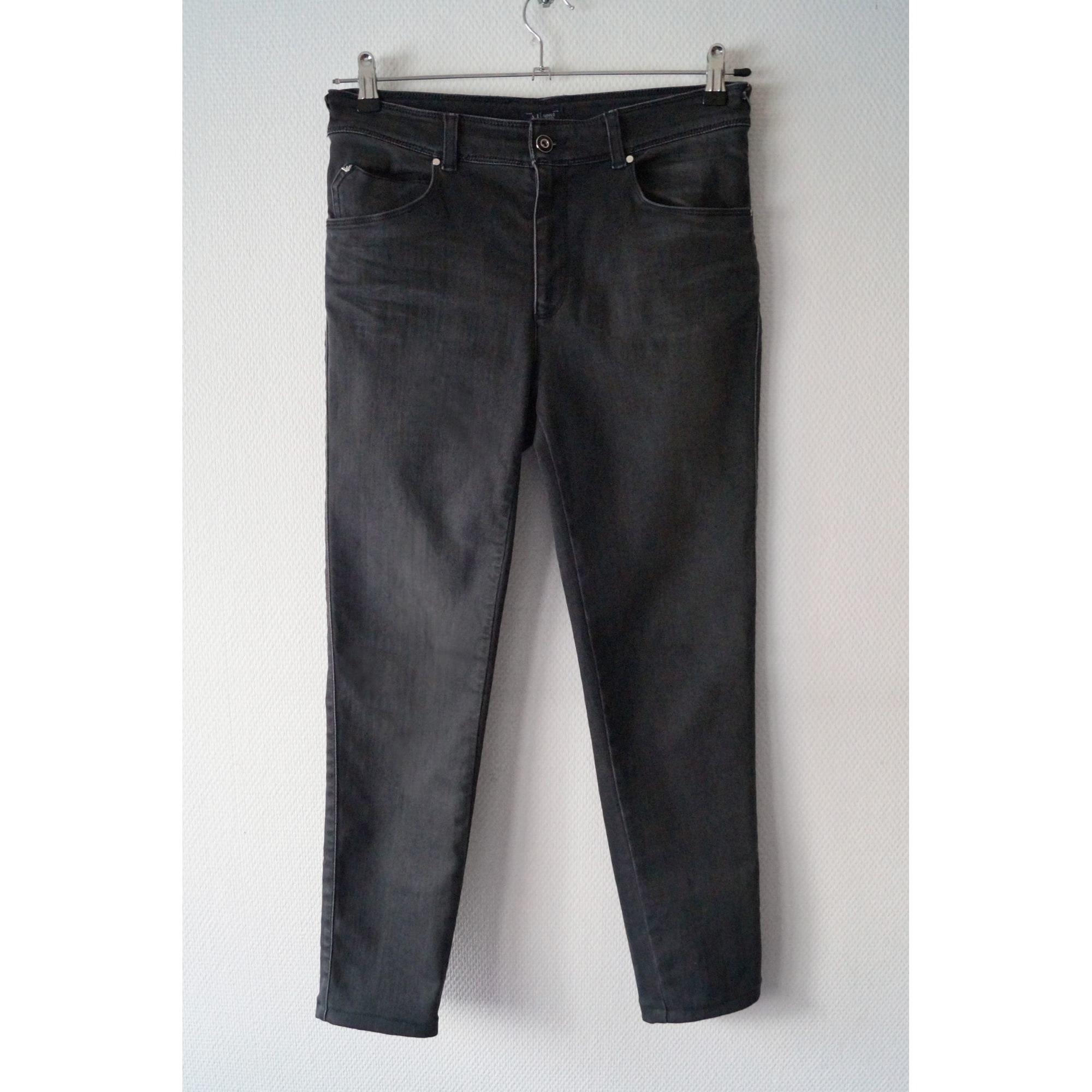Jeans slim ARMANI JEANS Gris, anthracite