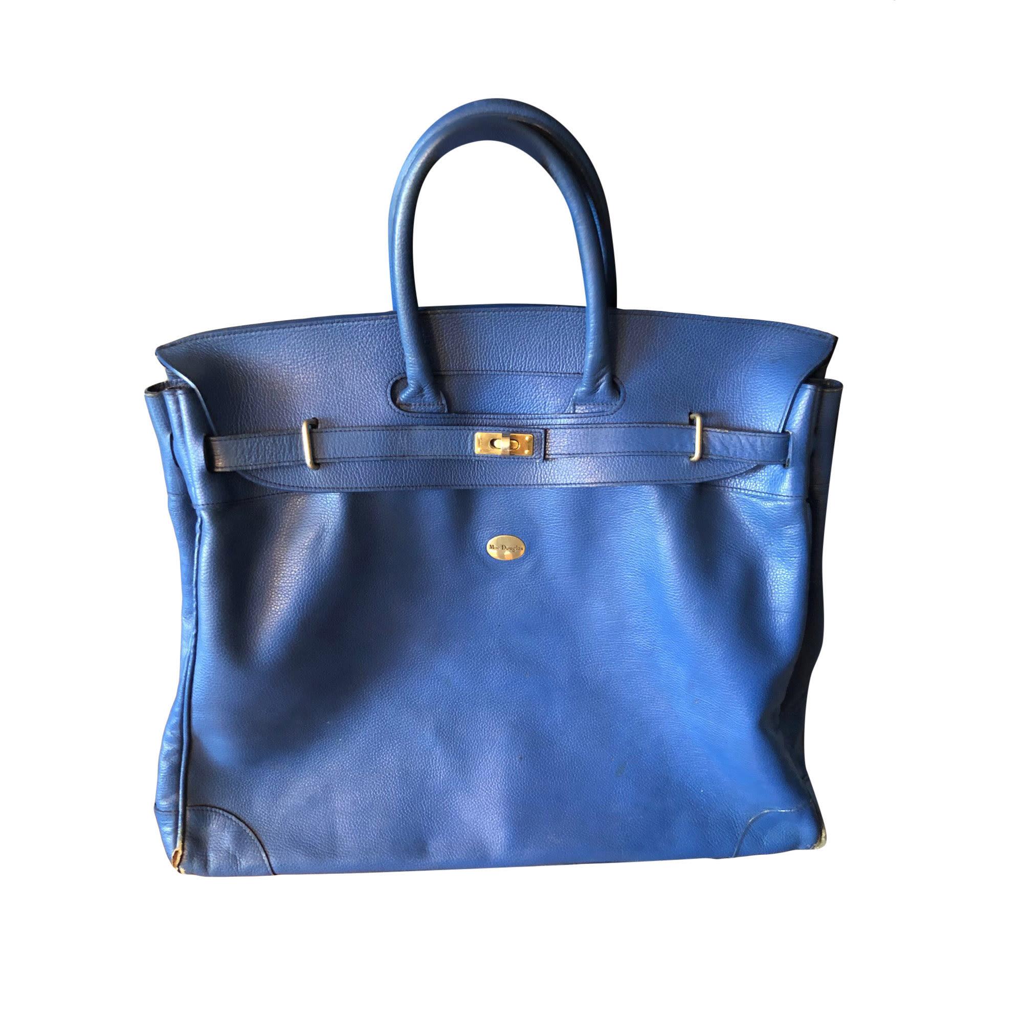 Sac XL en cuir MAC DOUGLAS Bleu, bleu marine, bleu turquoise