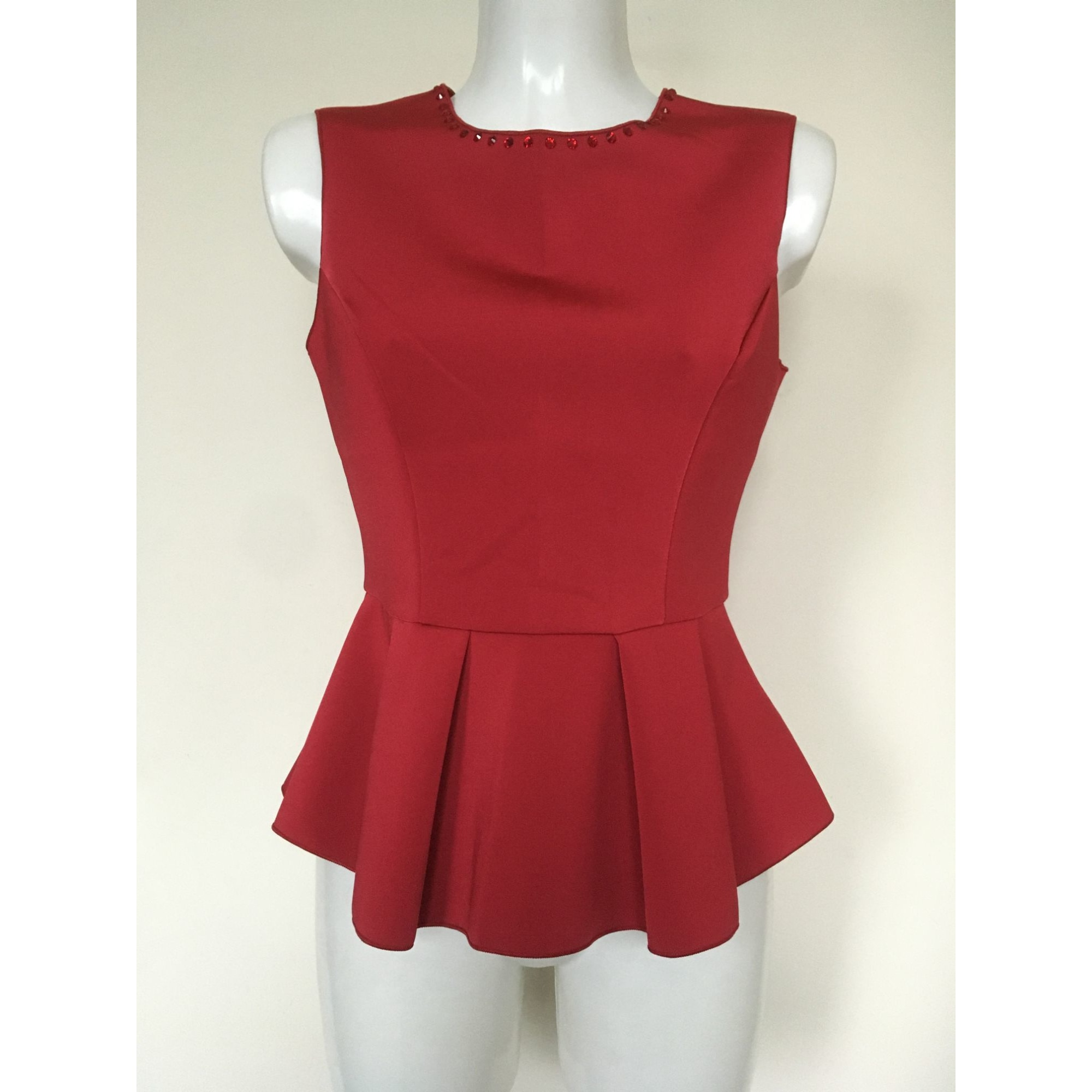 Top, tee-shirt VDP Rouge, bordeaux