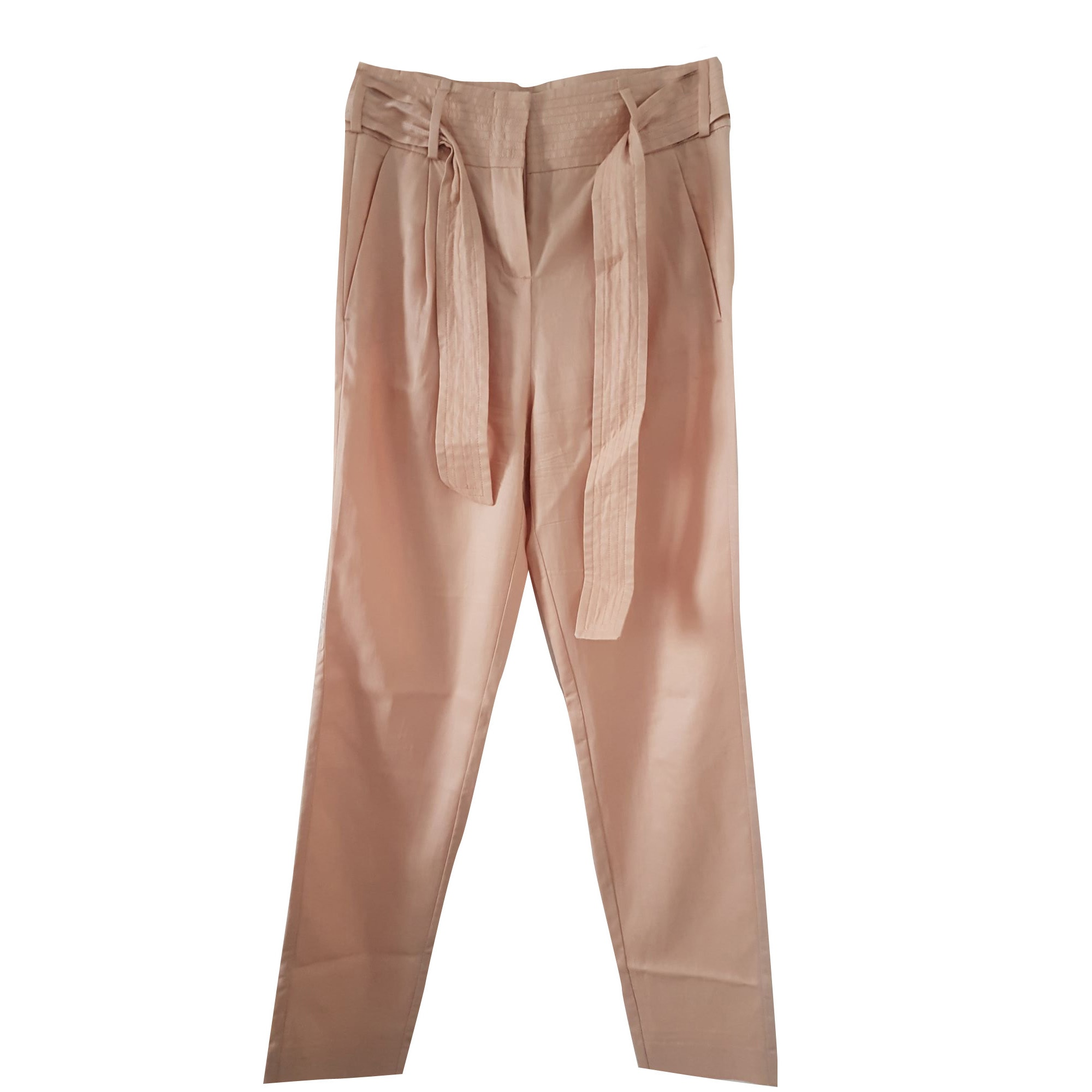 Pantalon carotte MAJE Nude