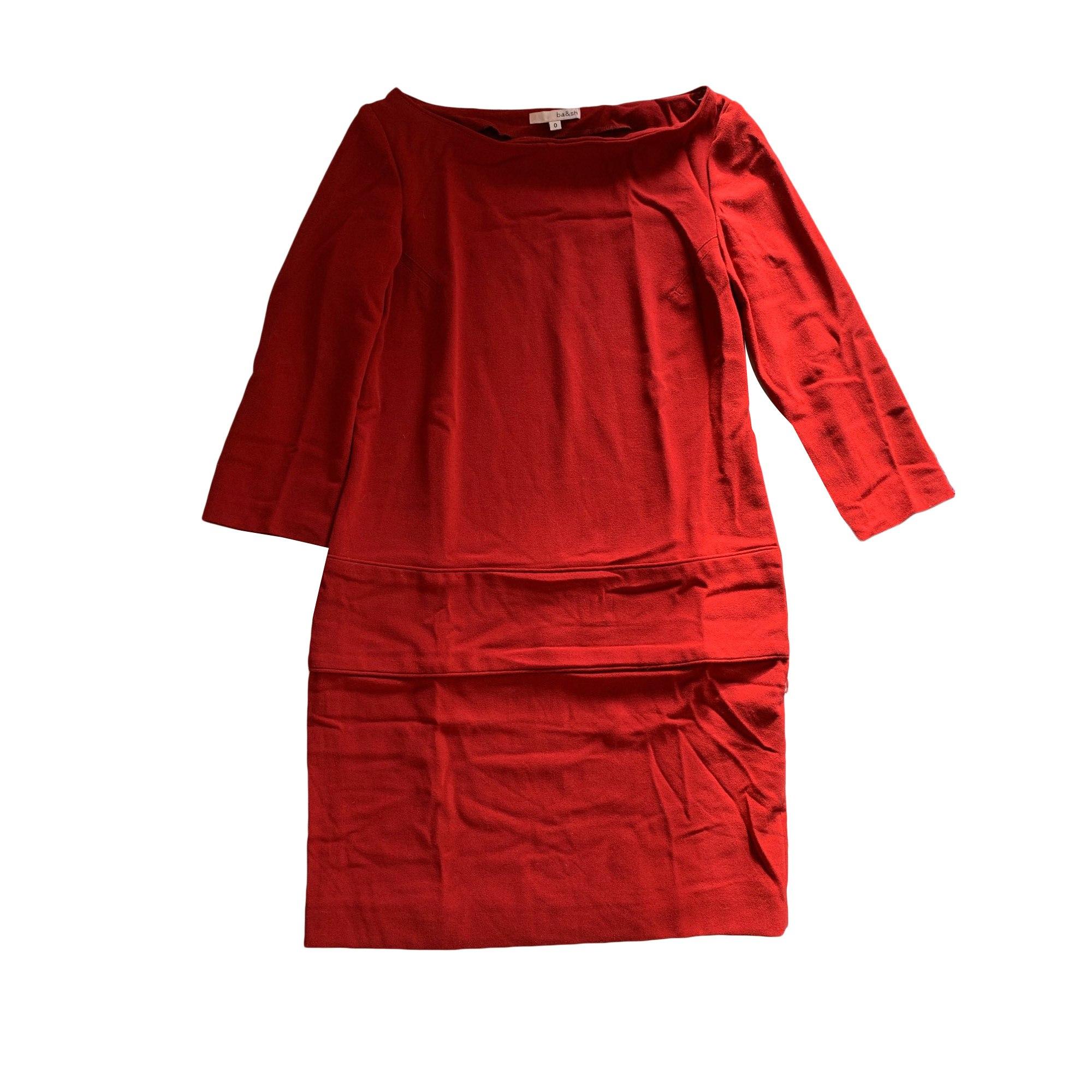 Robe courte BA&SH Rouge, bordeaux
