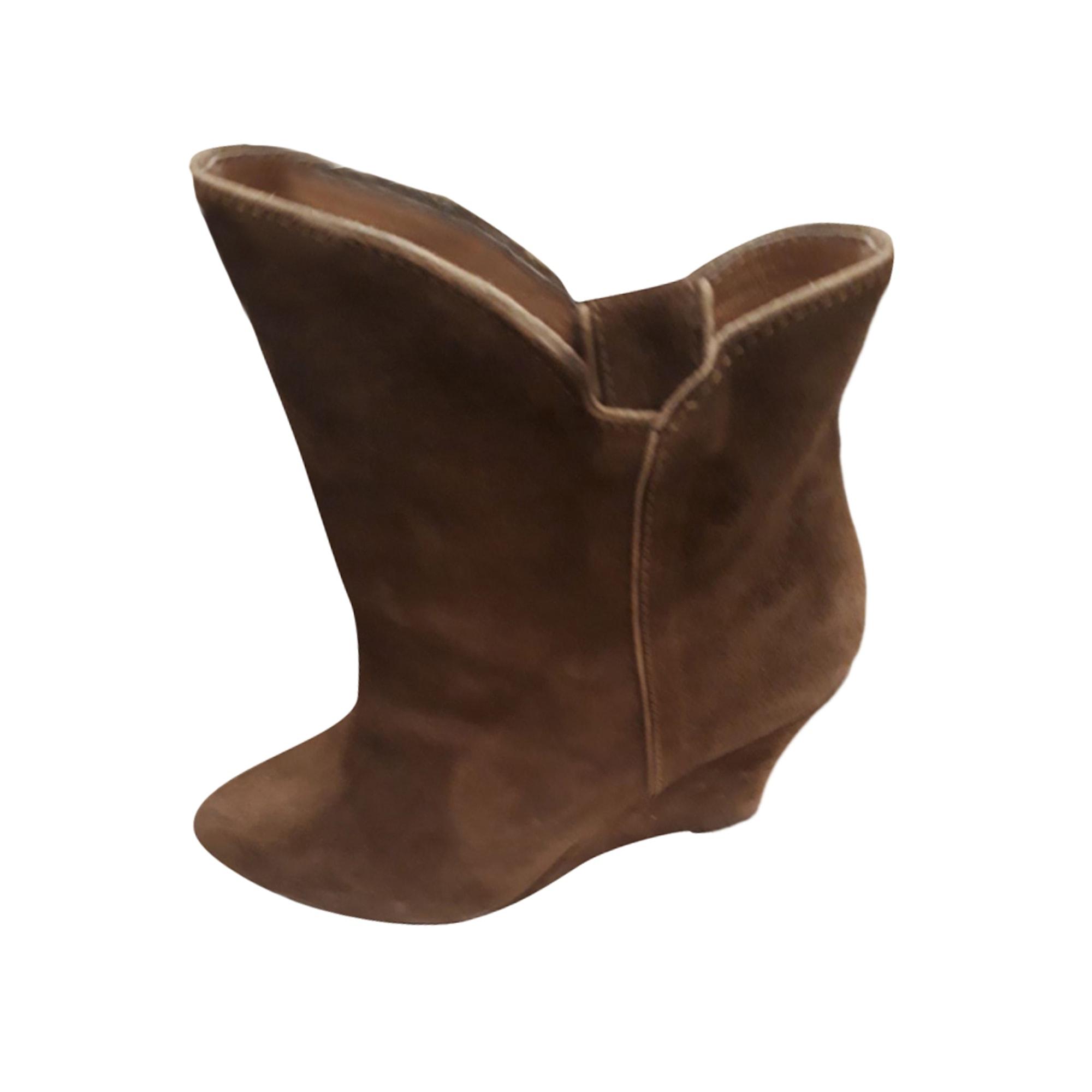 Bottines & low boots à compensés BEL AIR camel