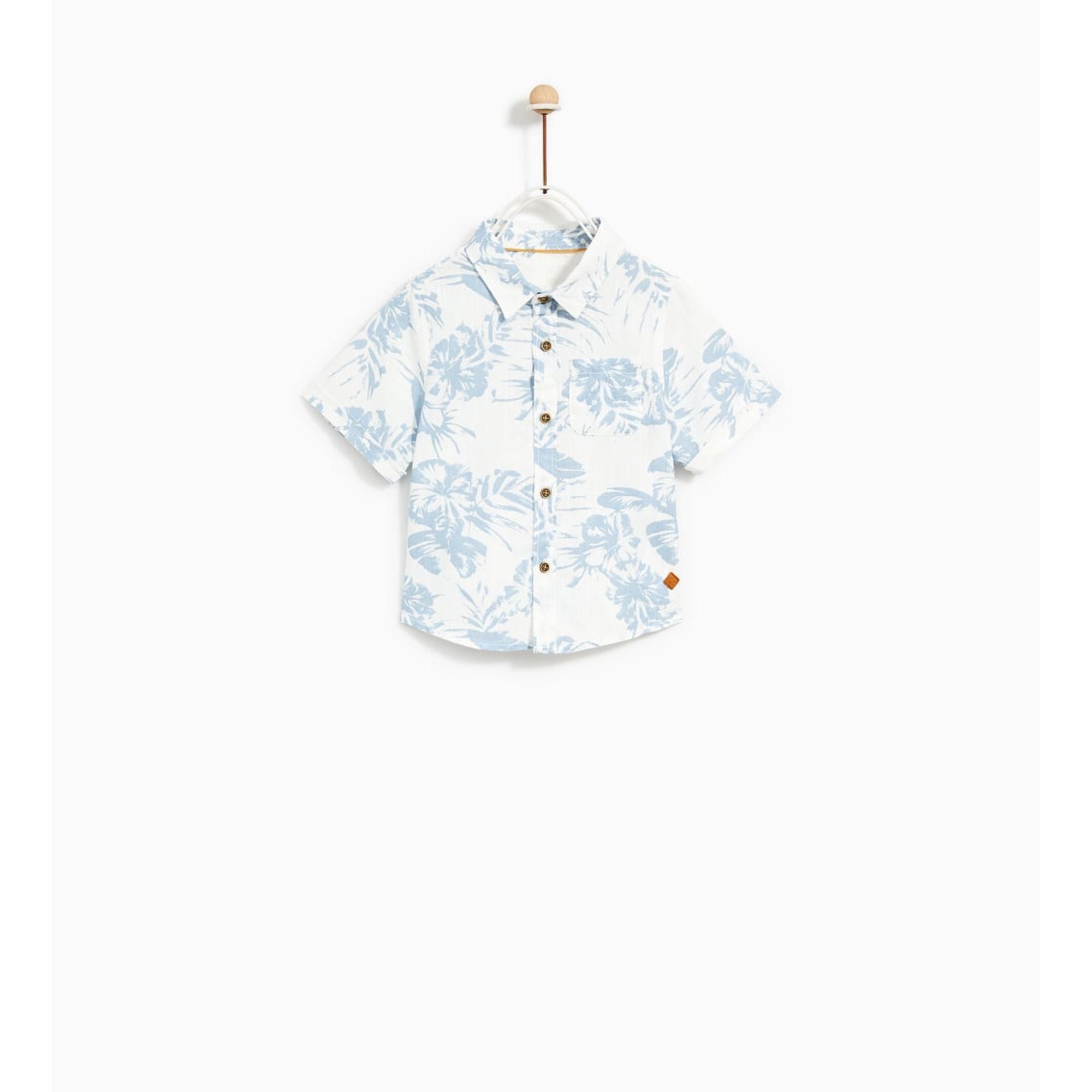 Blouse, Short-sleeved Shirt ZARA Multicolor