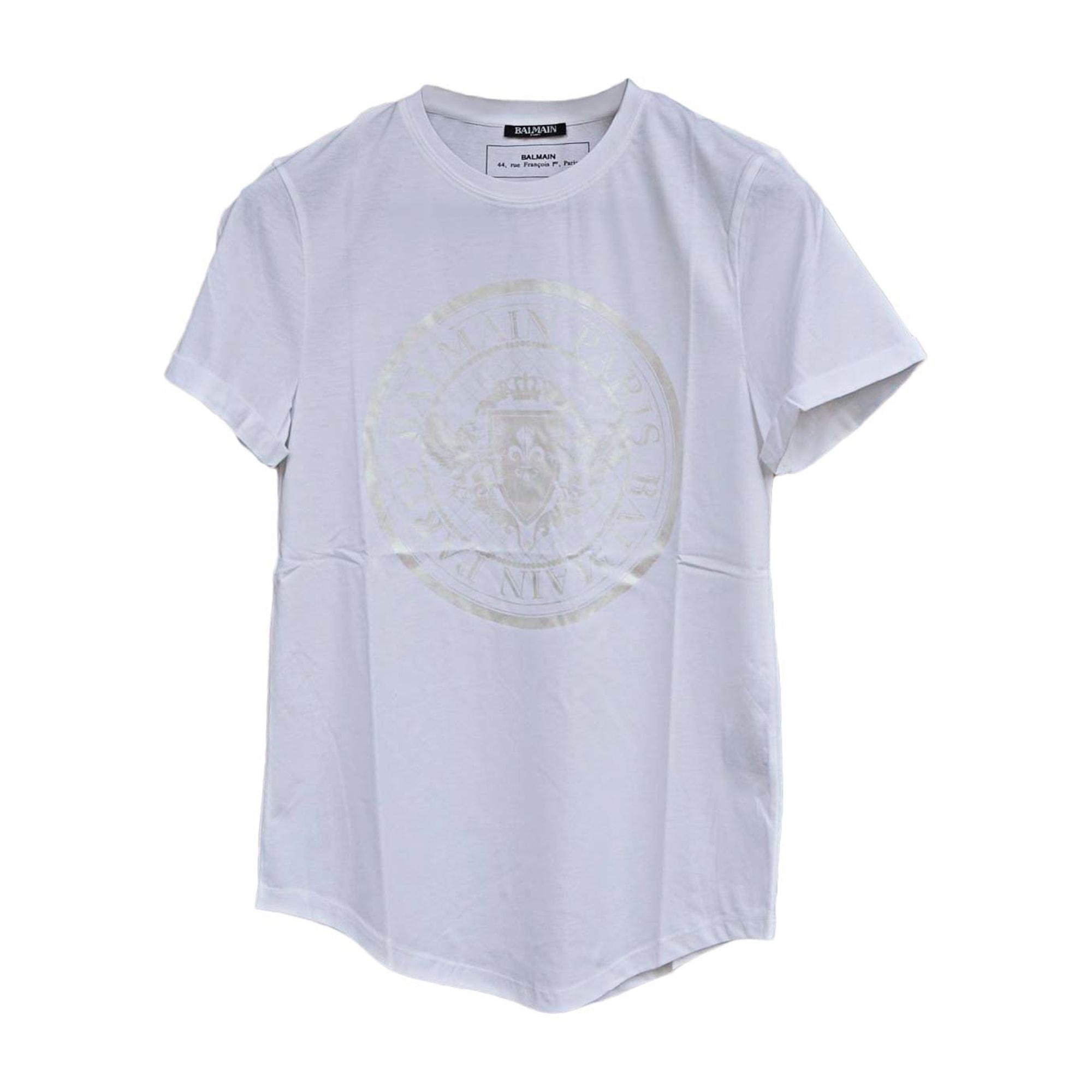 Tee-shirt BALMAIN Blanc, blanc cassé, écru