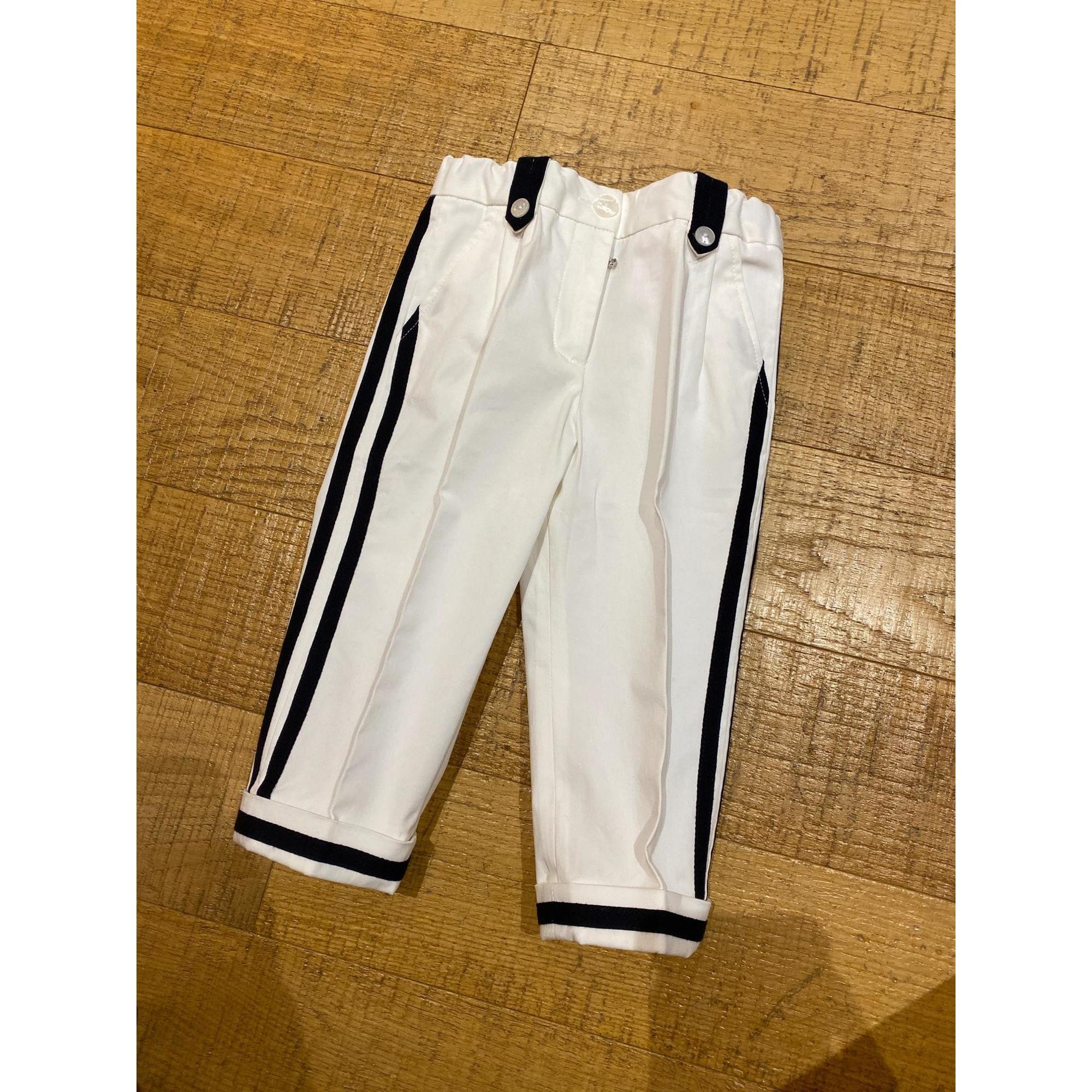 Pantalon DOLCE & GABBANA Blanc, blanc cassé, écru