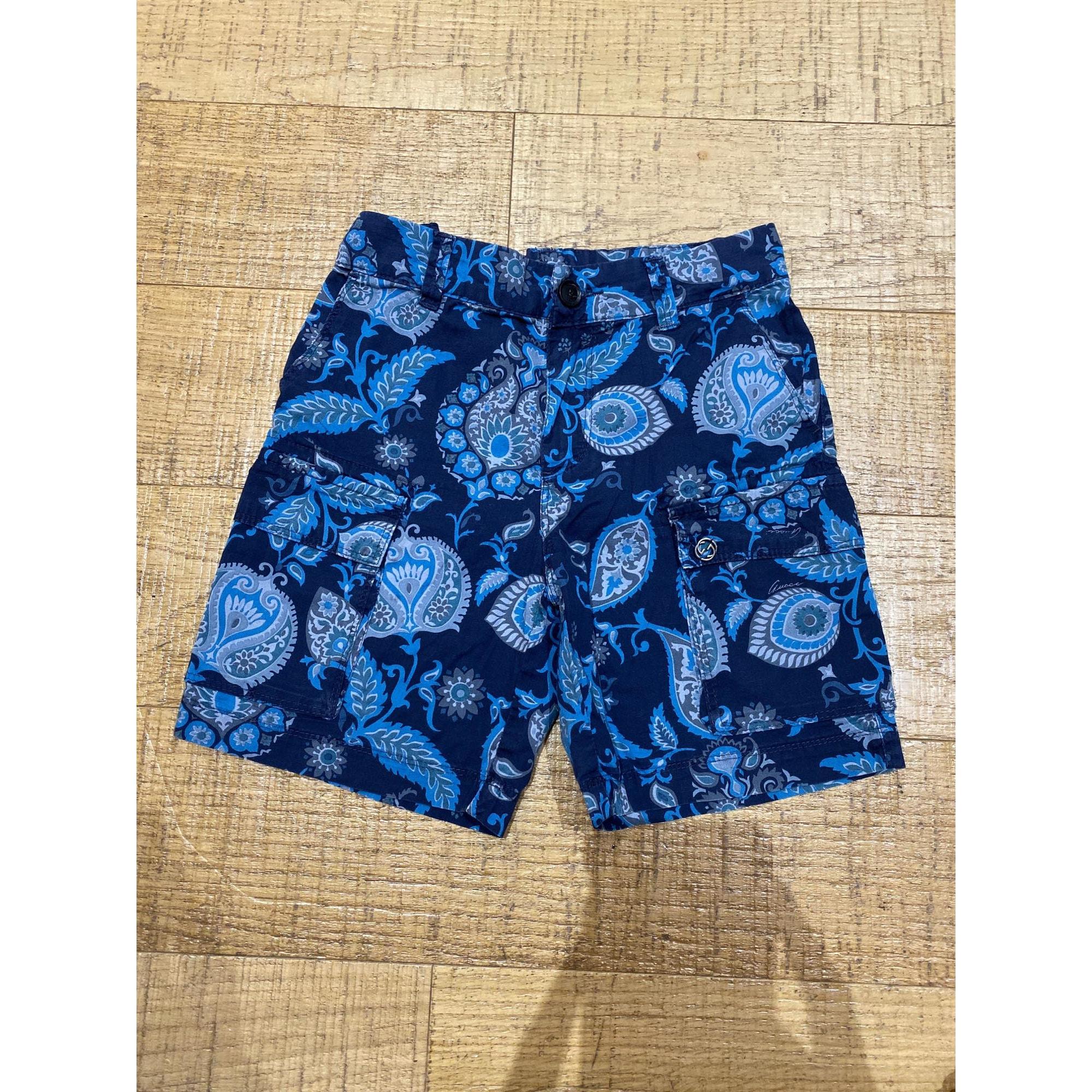 Short GUCCI Bleu, bleu marine, bleu turquoise