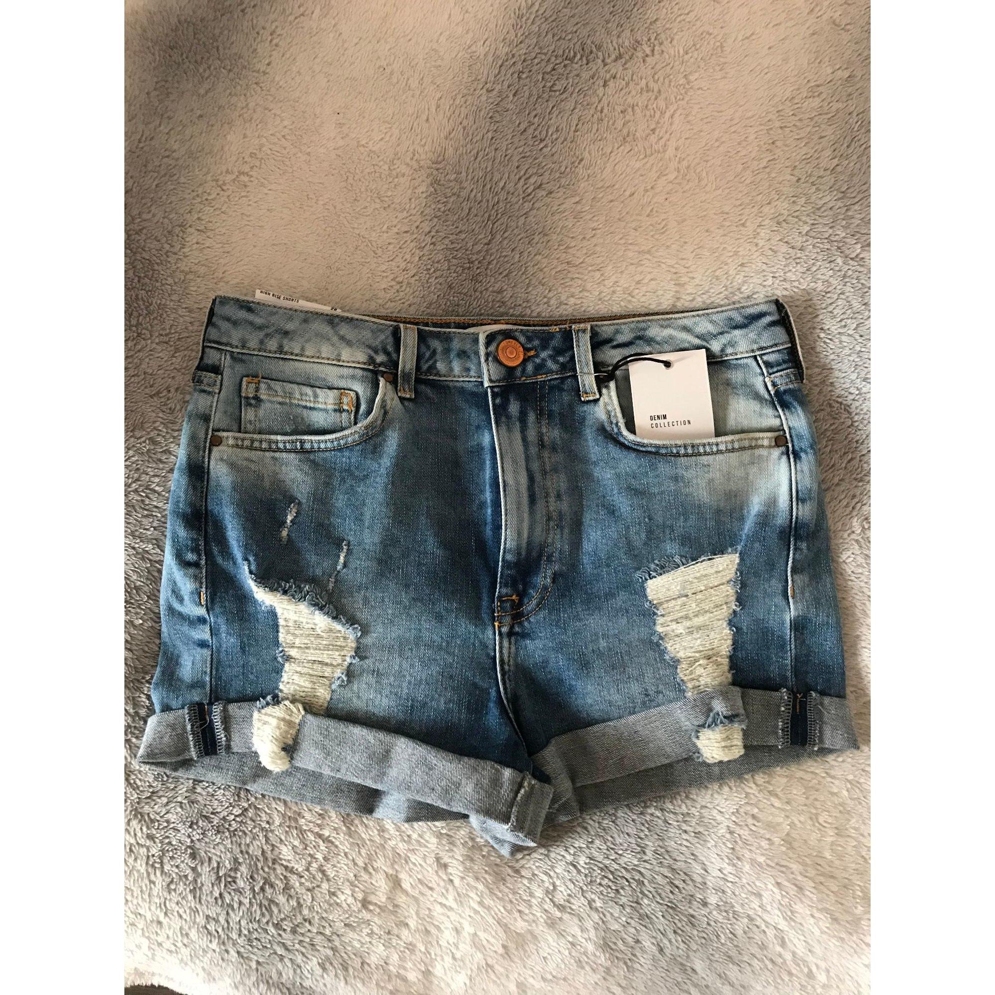 Short en jean FOREVER 21 Bleu, bleu marine, bleu turquoise