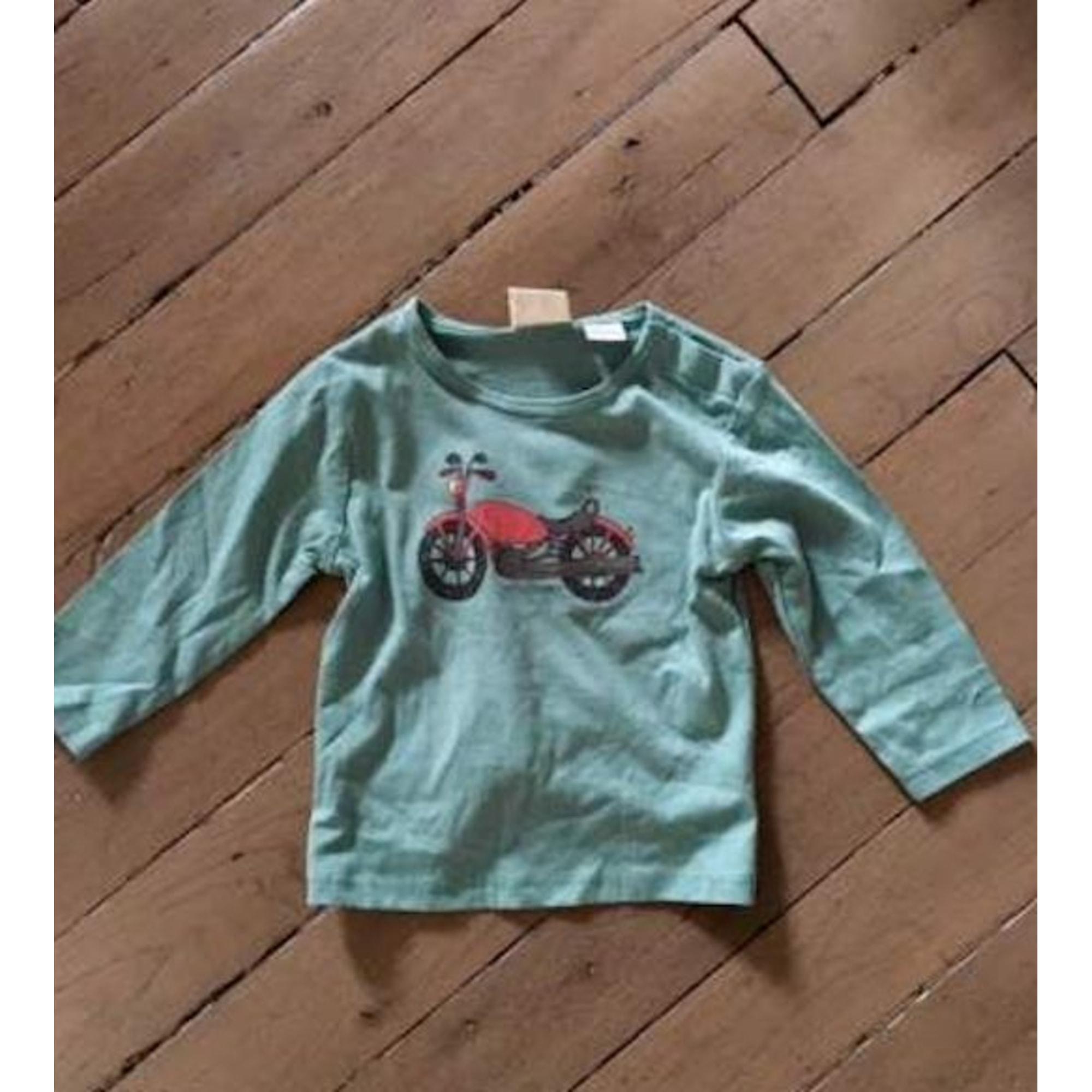 Top, tee shirt ZARA Vert