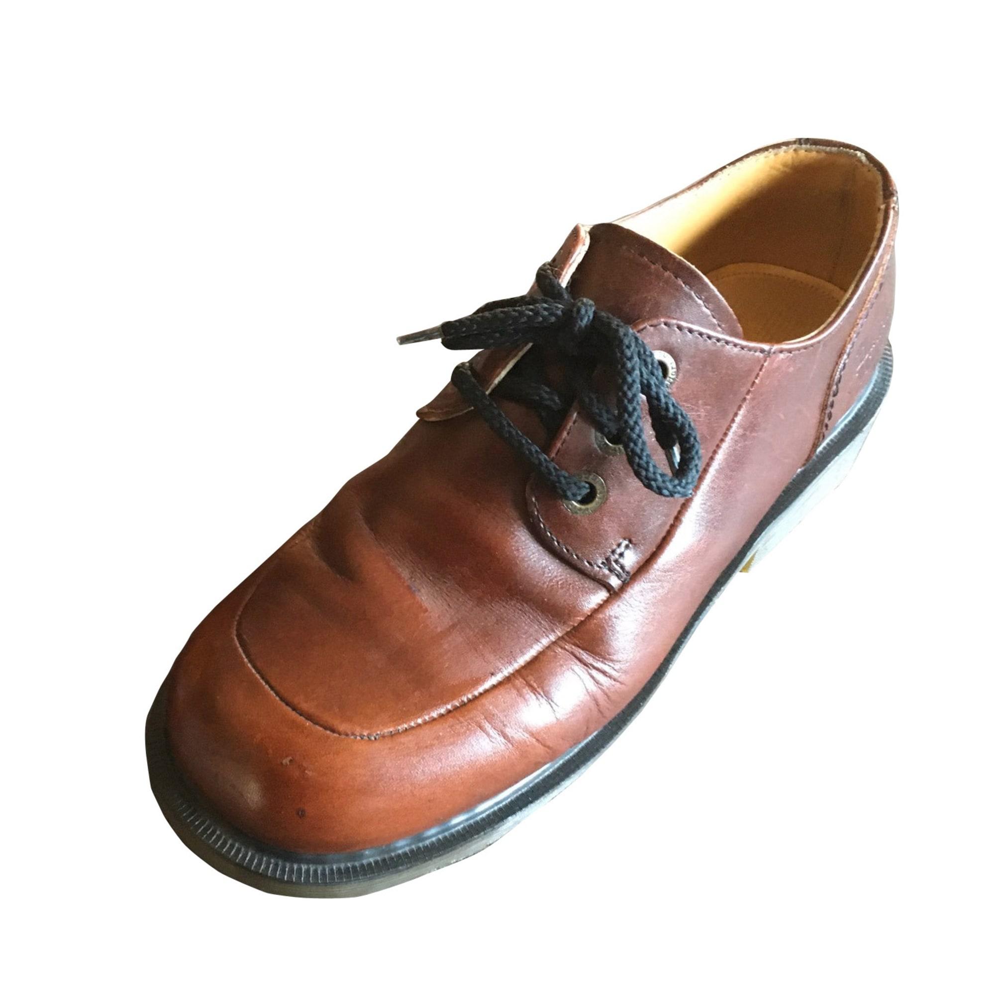 Bottines & low boots à talons DR. MARTENS Marron