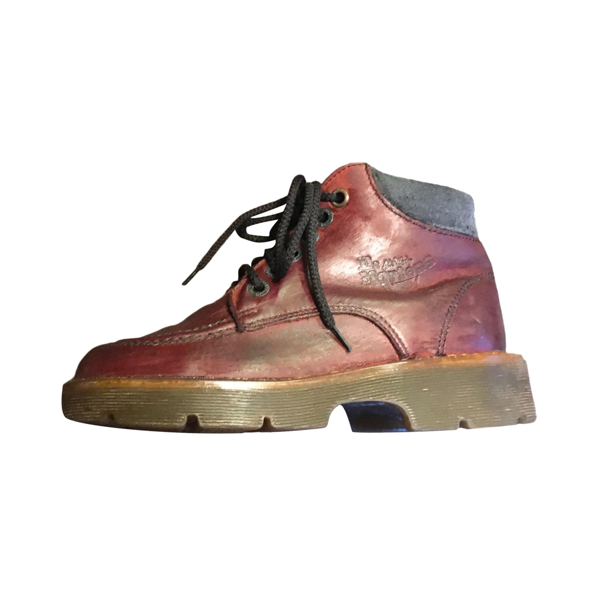 Bottines & low boots plates DR. MARTENS Marron bordeaux