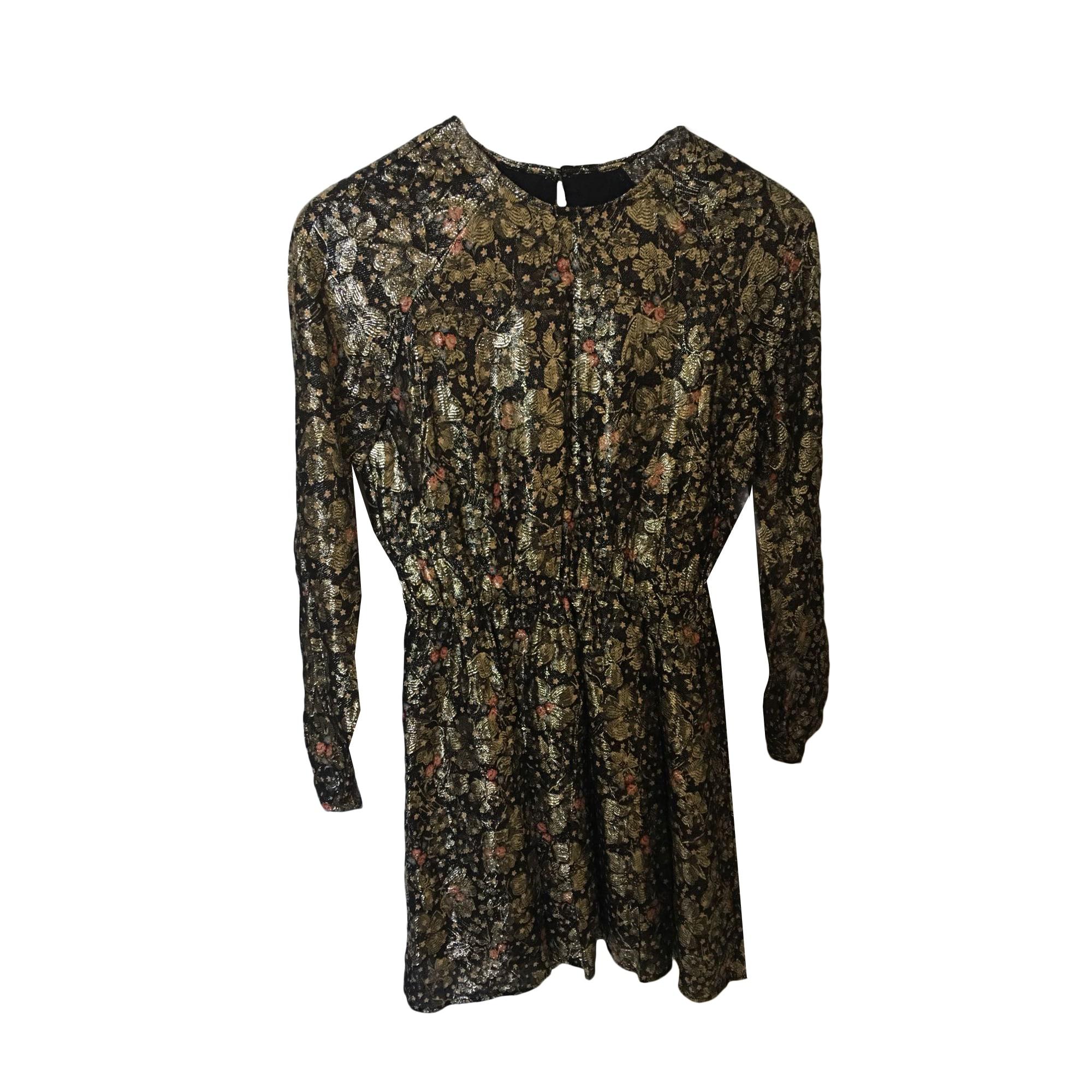 Robe courte BALZAC PARIS Doré, bronze, cuivre