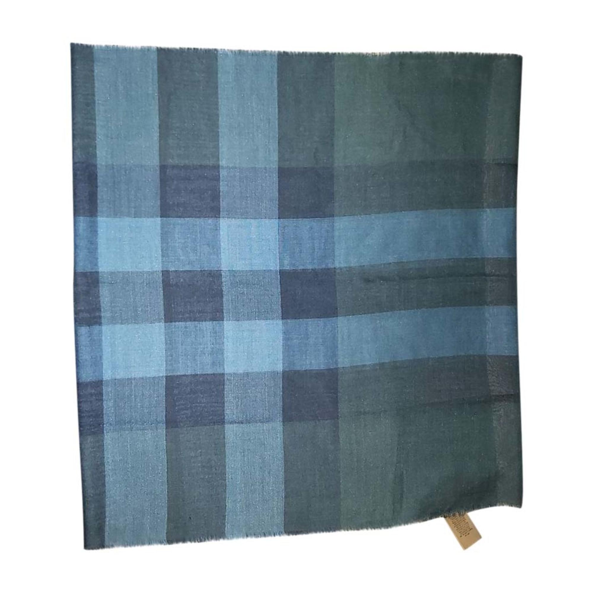 Echarpe BURBERRY Bleu, bleu marine, bleu turquoise