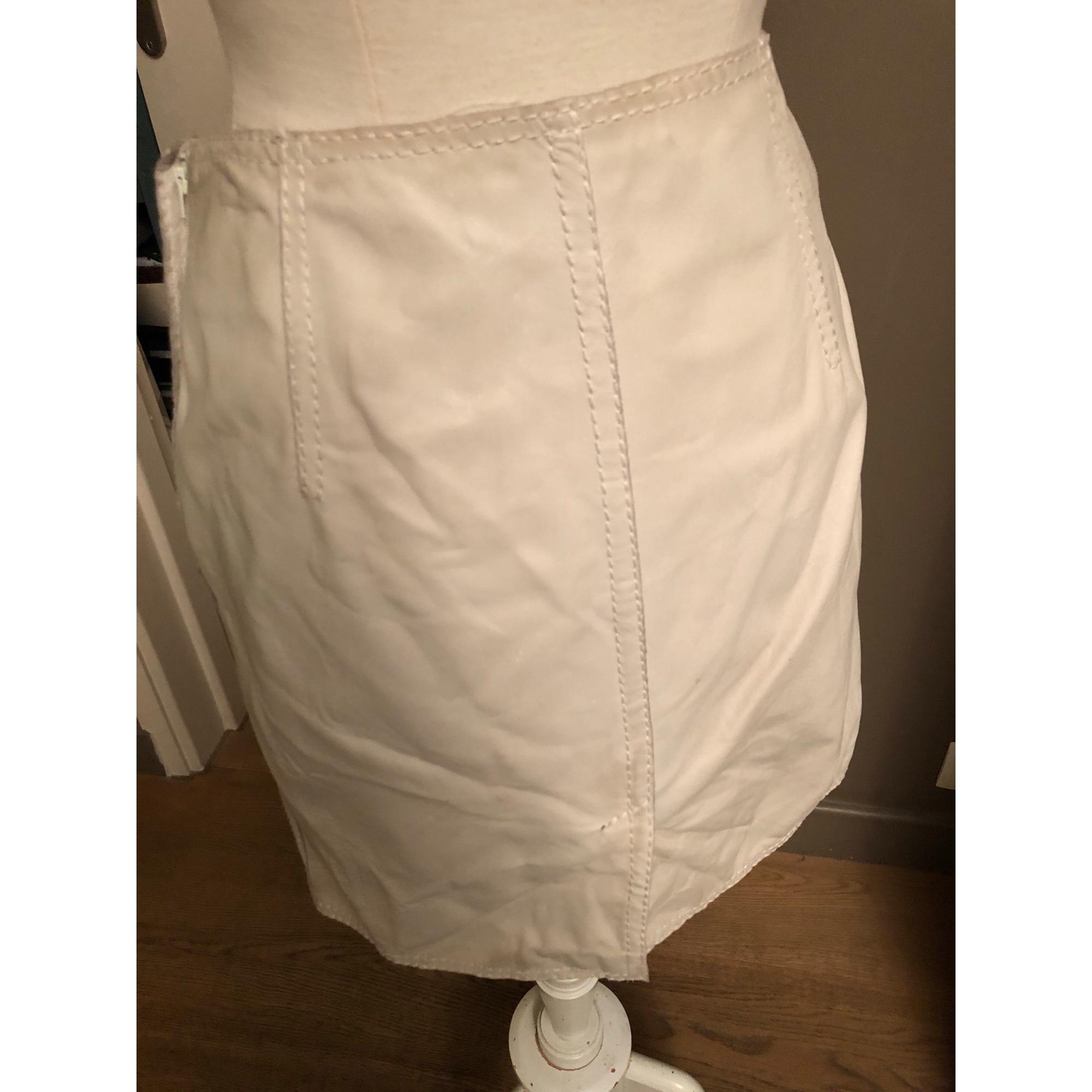 Jupe mi-longue SYLVIE SCHIMMEL Blanc, blanc cassé, écru