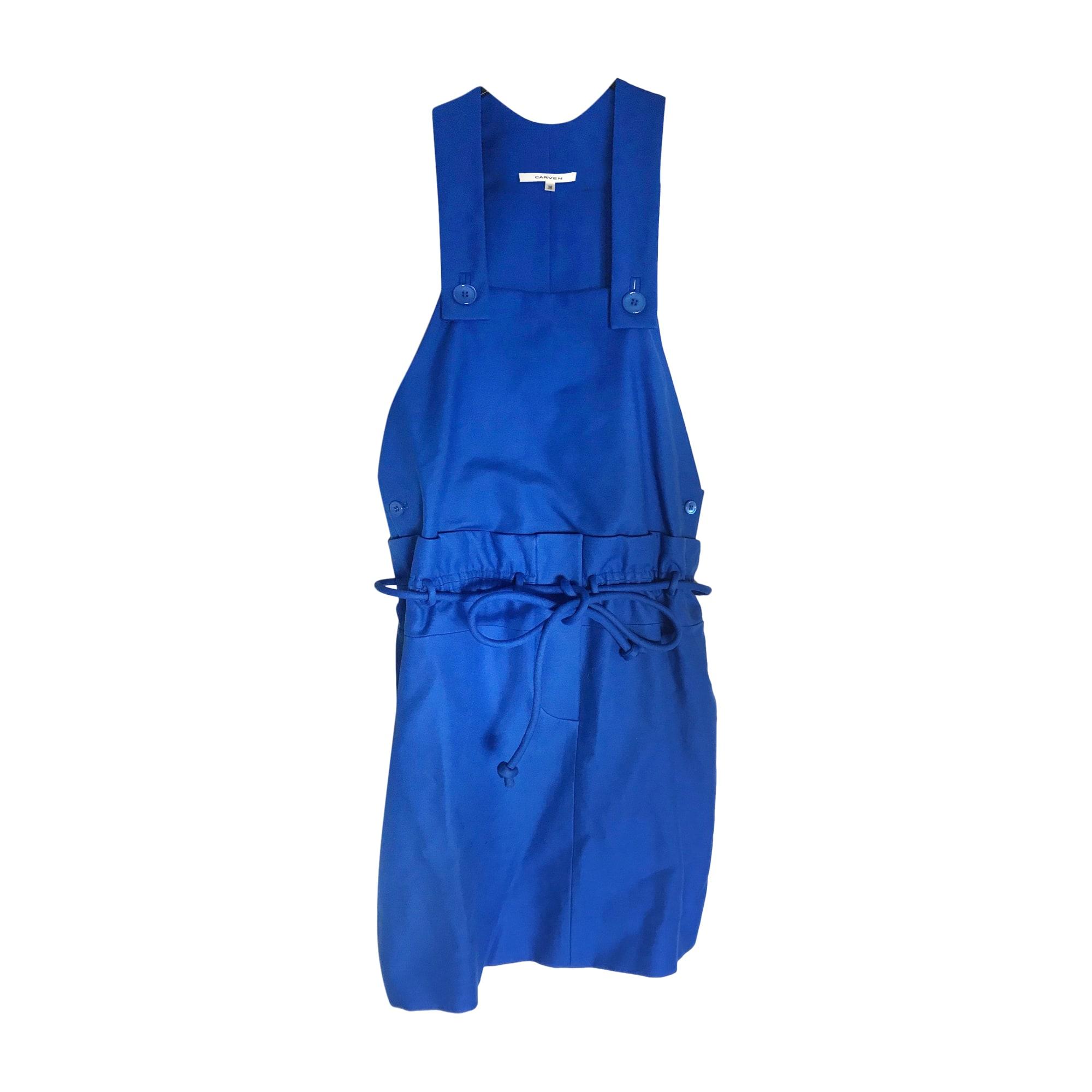 Robe courte CARVEN Bleu, bleu marine, bleu turquoise
