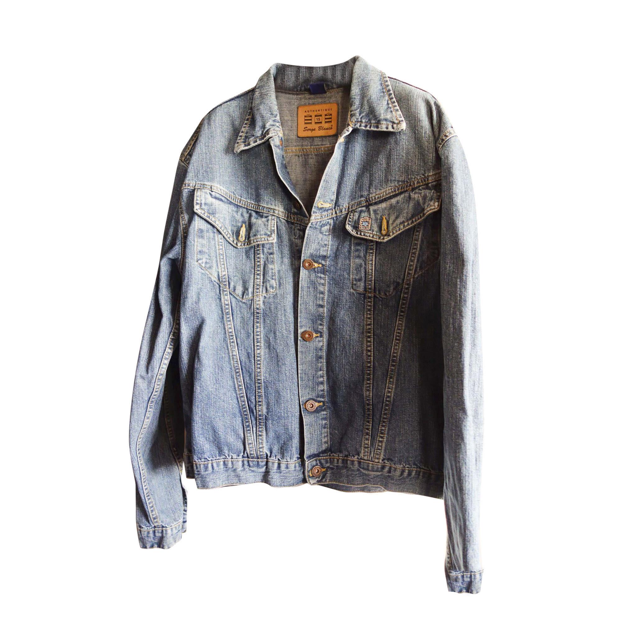 Denim Jacket SERGE BLANCO Blue, navy, turquoise