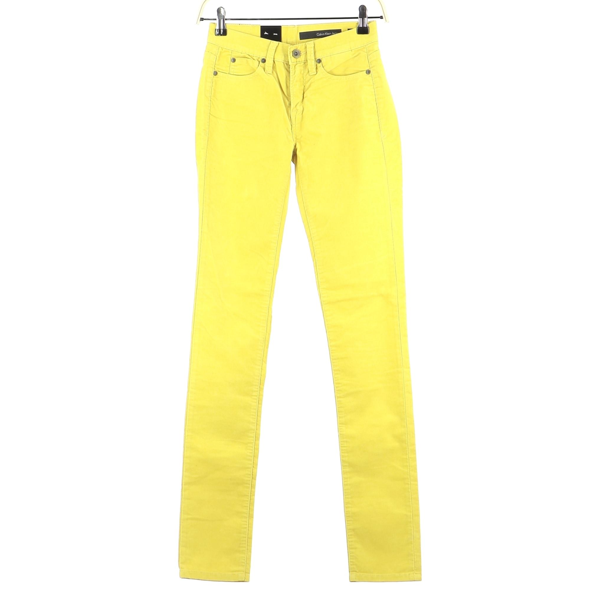 Jeans droit CALVIN KLEIN Jaune