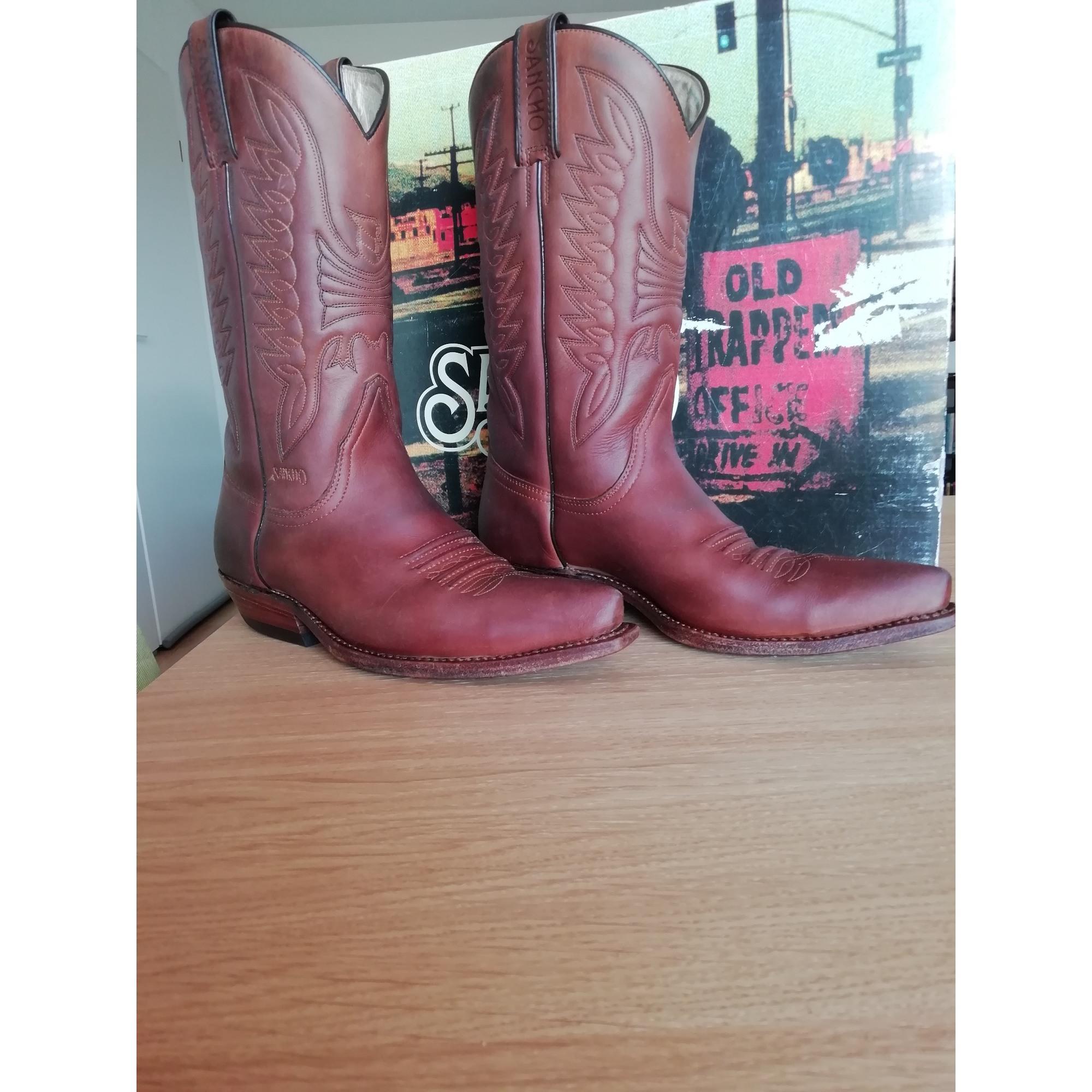 Santiags, bottes cowboy SANCHO BOOTS Marron
