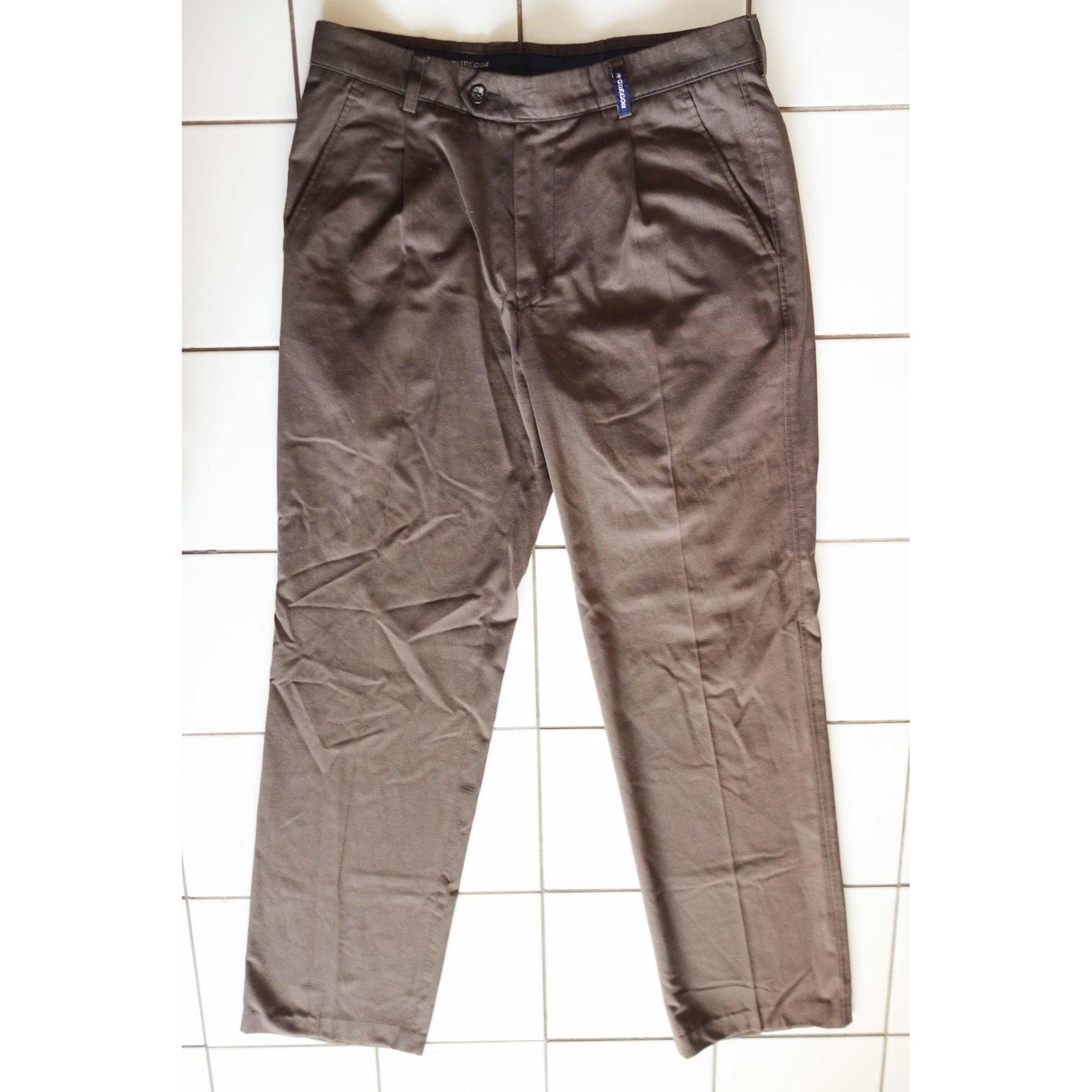 Pantalon droit MC GREGOR Marron