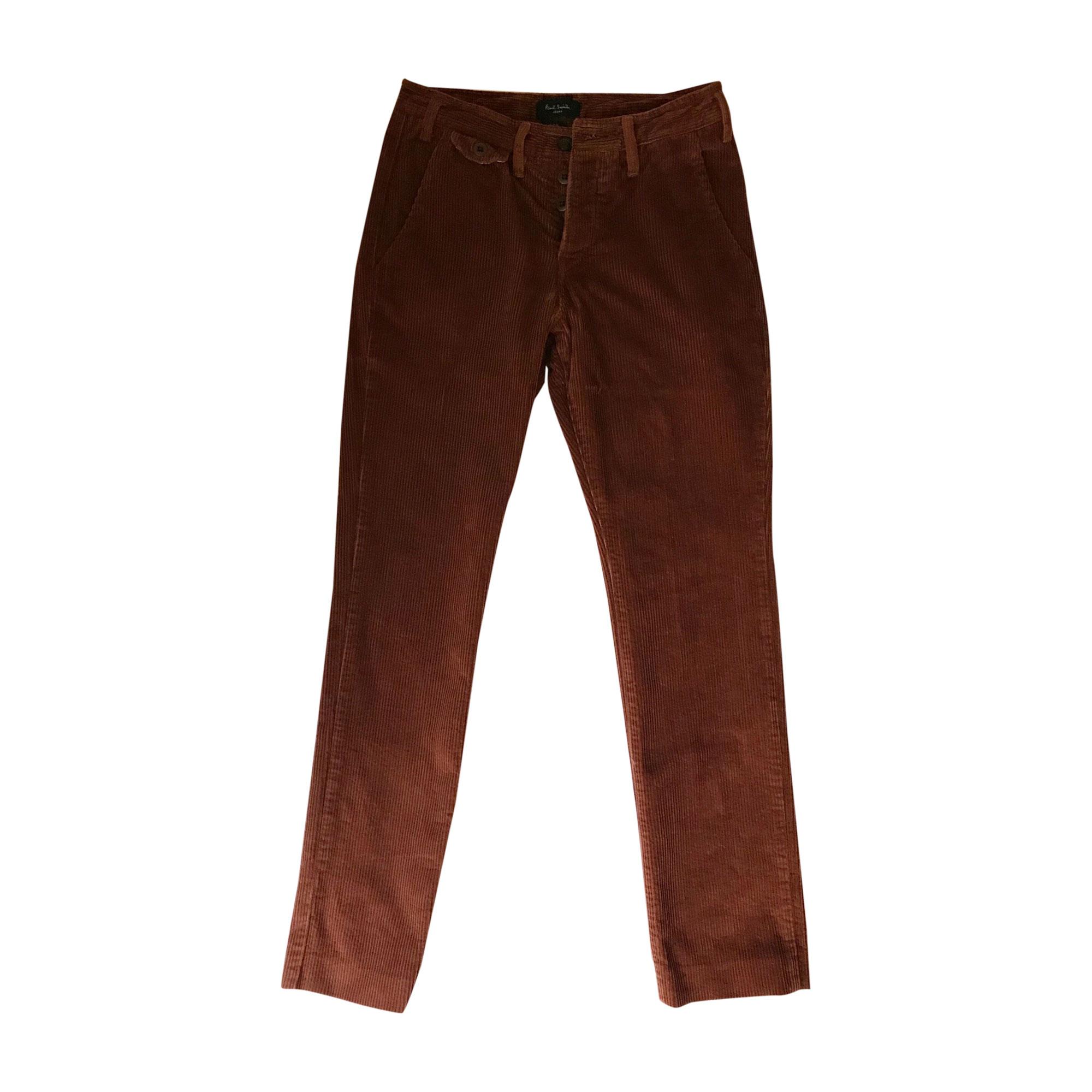 Pantalon slim PAUL SMITH Marron