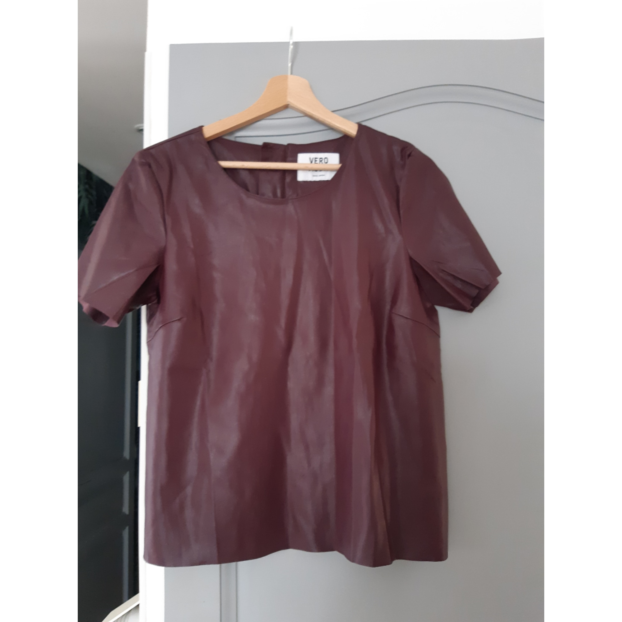 Top, tee-shirt VERO MODA Rouge, bordeaux