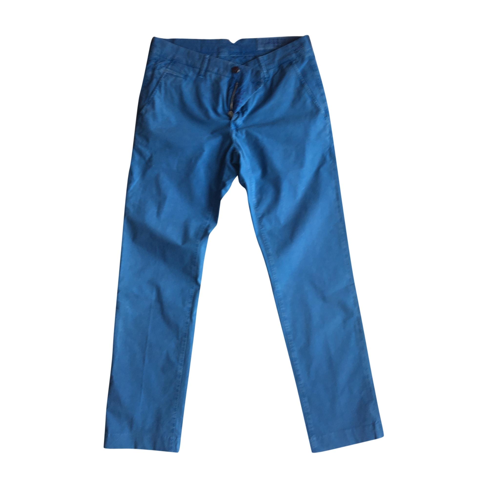 Pantalon droit JACOB COHEN Bleu, bleu marine, bleu turquoise