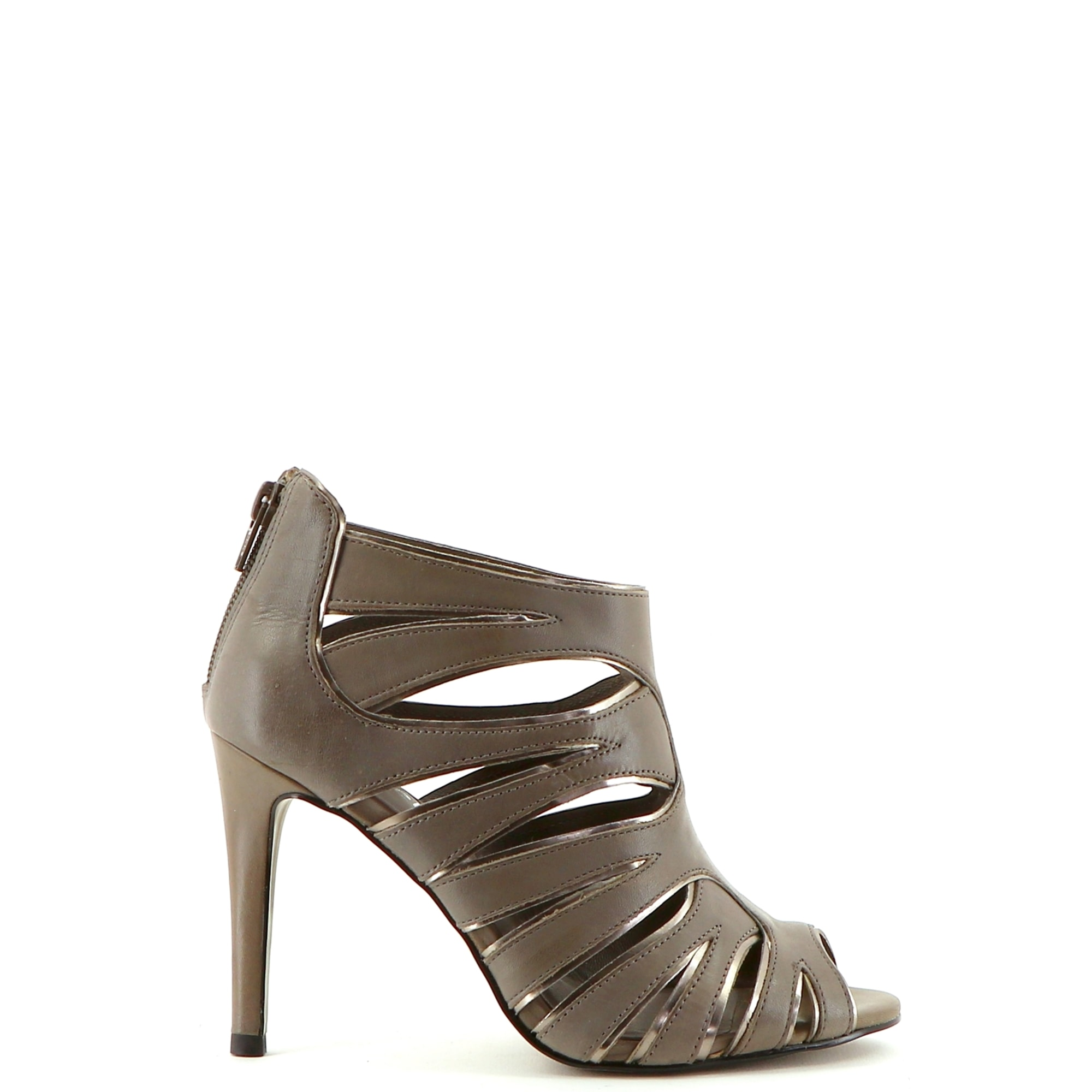 Flat Sandals MINELLI Gray, charcoal