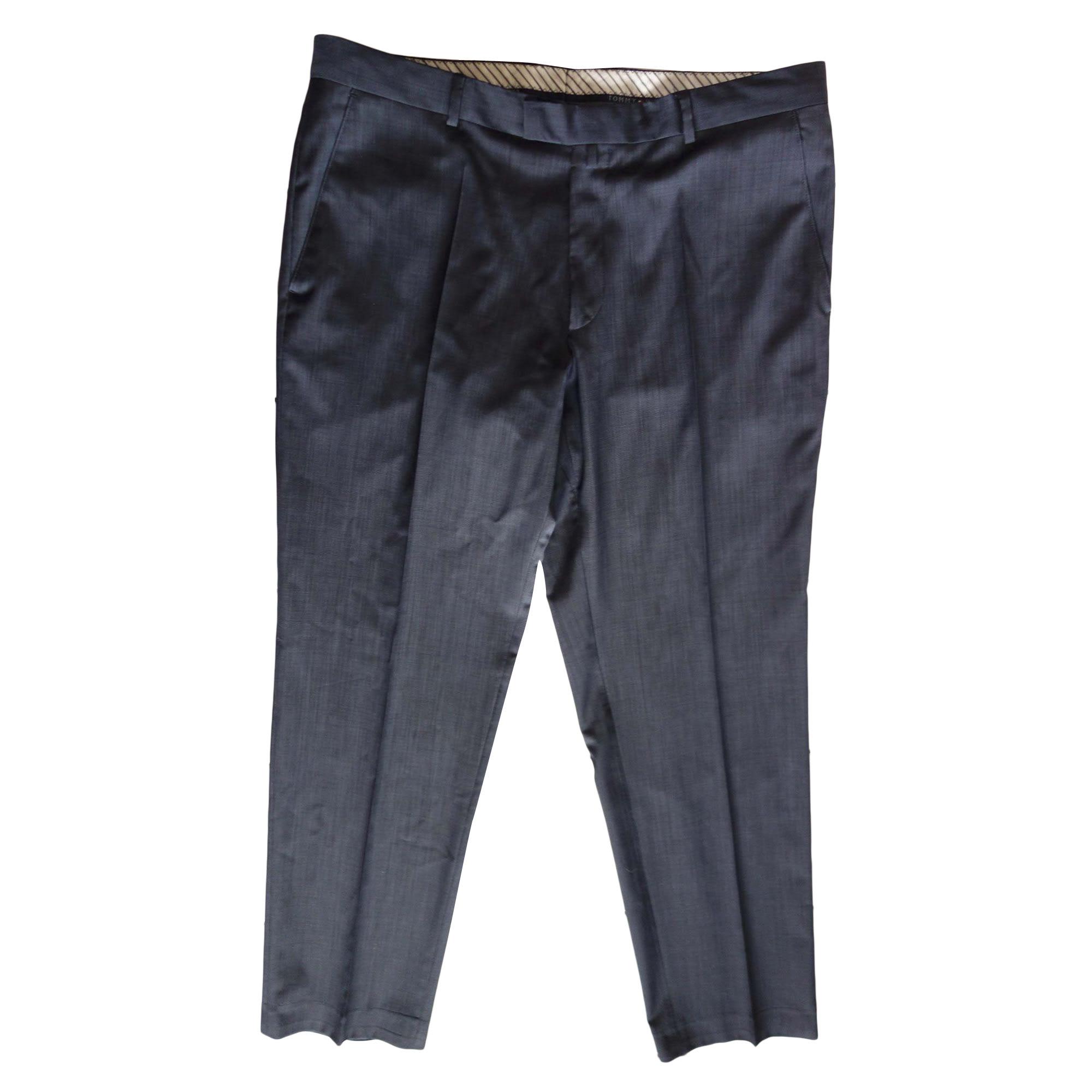 Pantalon droit TOMMY HILFIGER Bleu, bleu marine, bleu turquoise