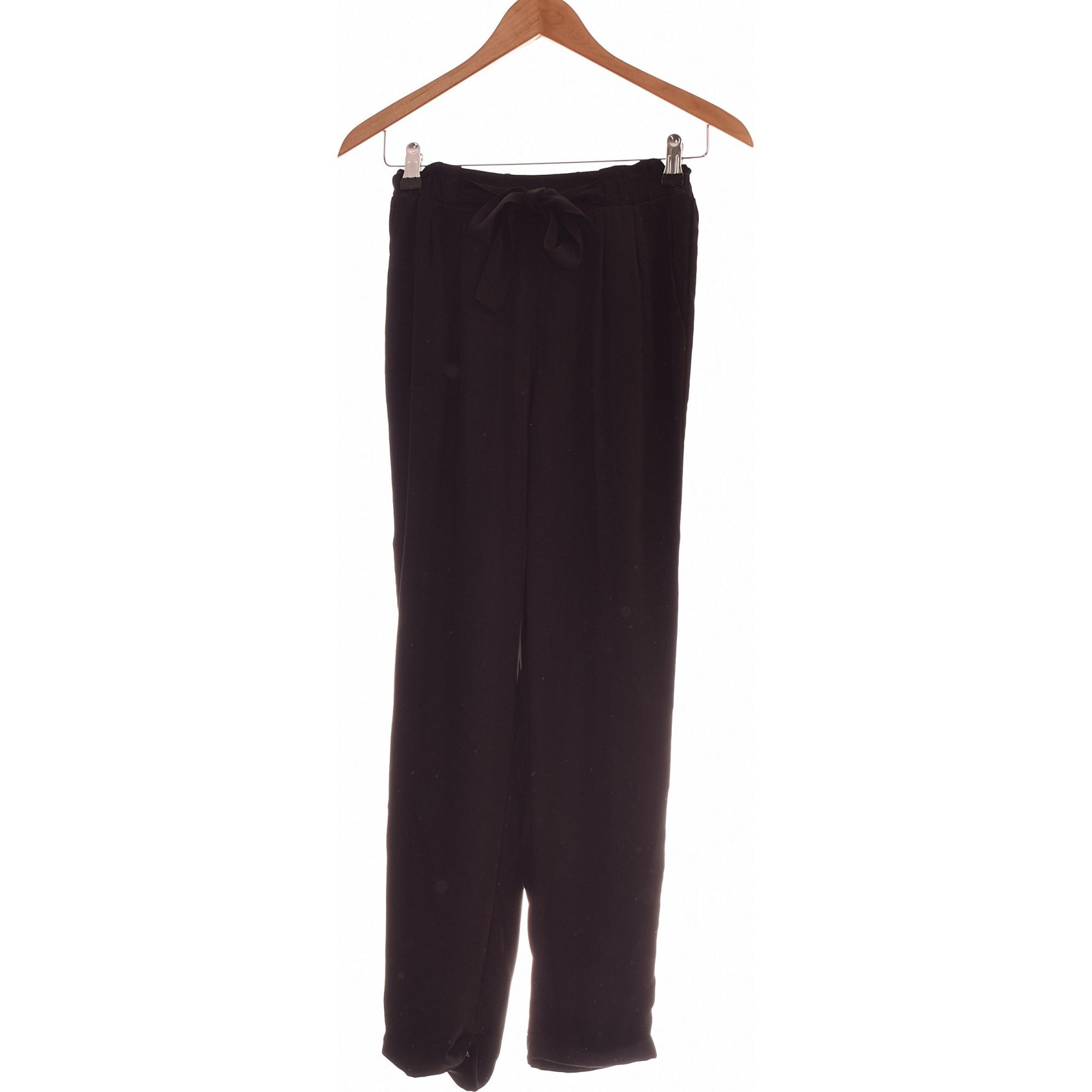 Pantalon slim, cigarette STRADIVARIUS Noir