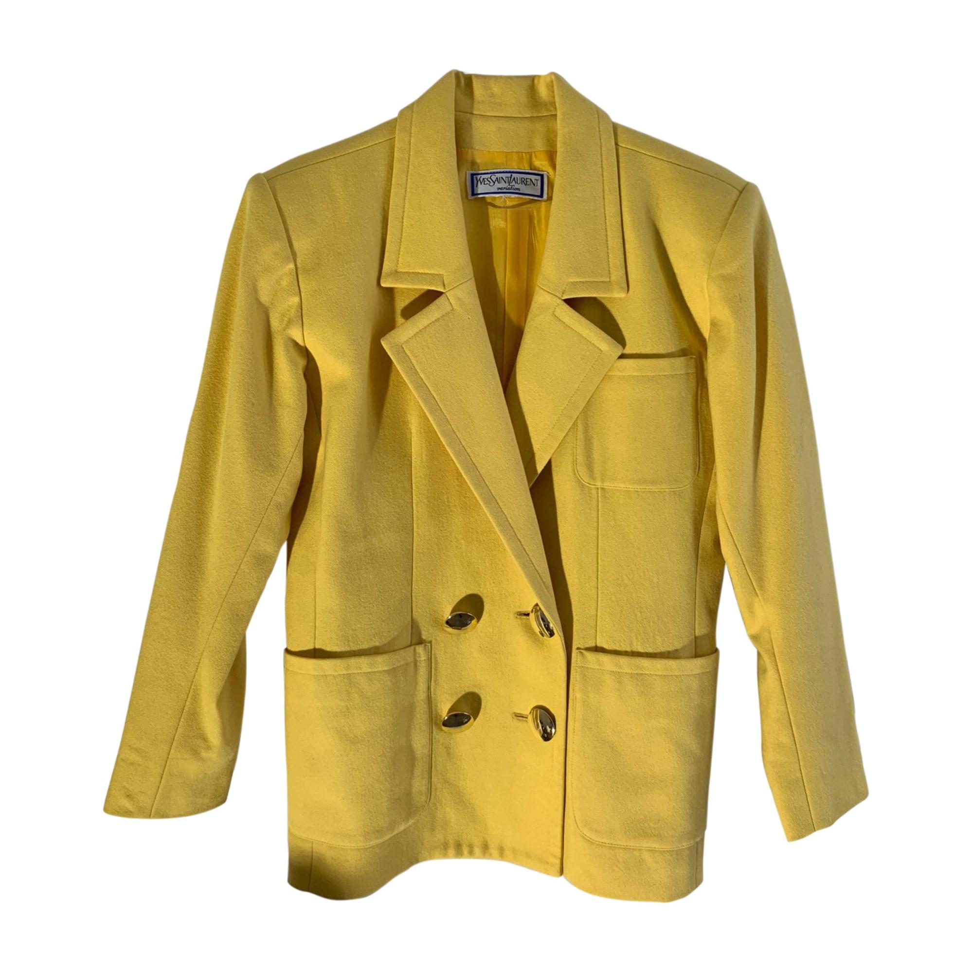 Blazer, veste tailleur YVES SAINT LAURENT Jaune