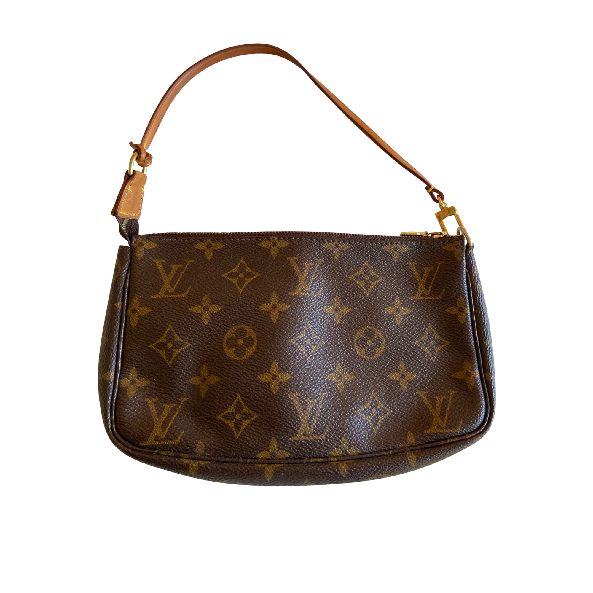 Pochette in pelle LOUIS VUITTON Marrone