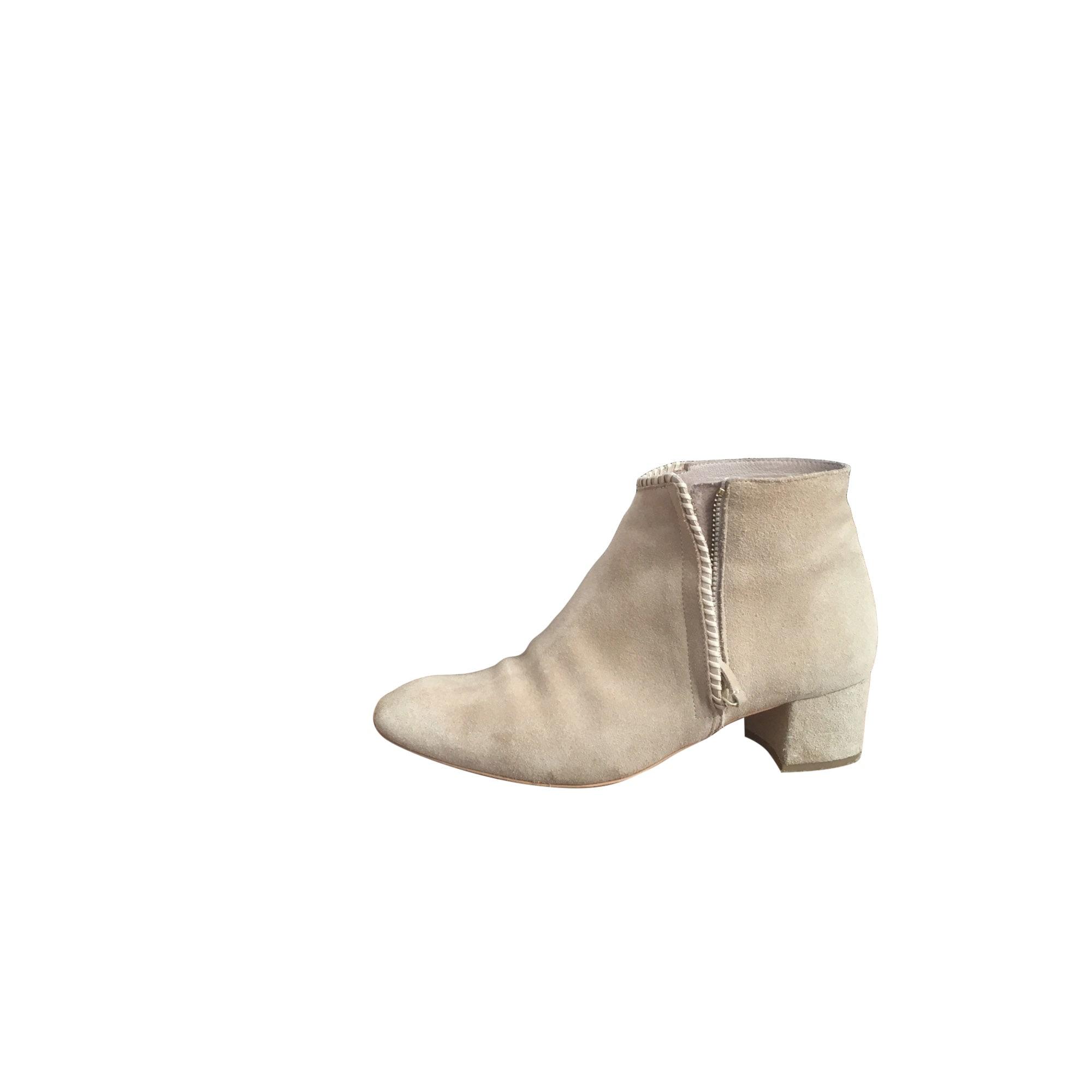 Bottines & low boots à talons MAJE Blanc, blanc cassé, écru