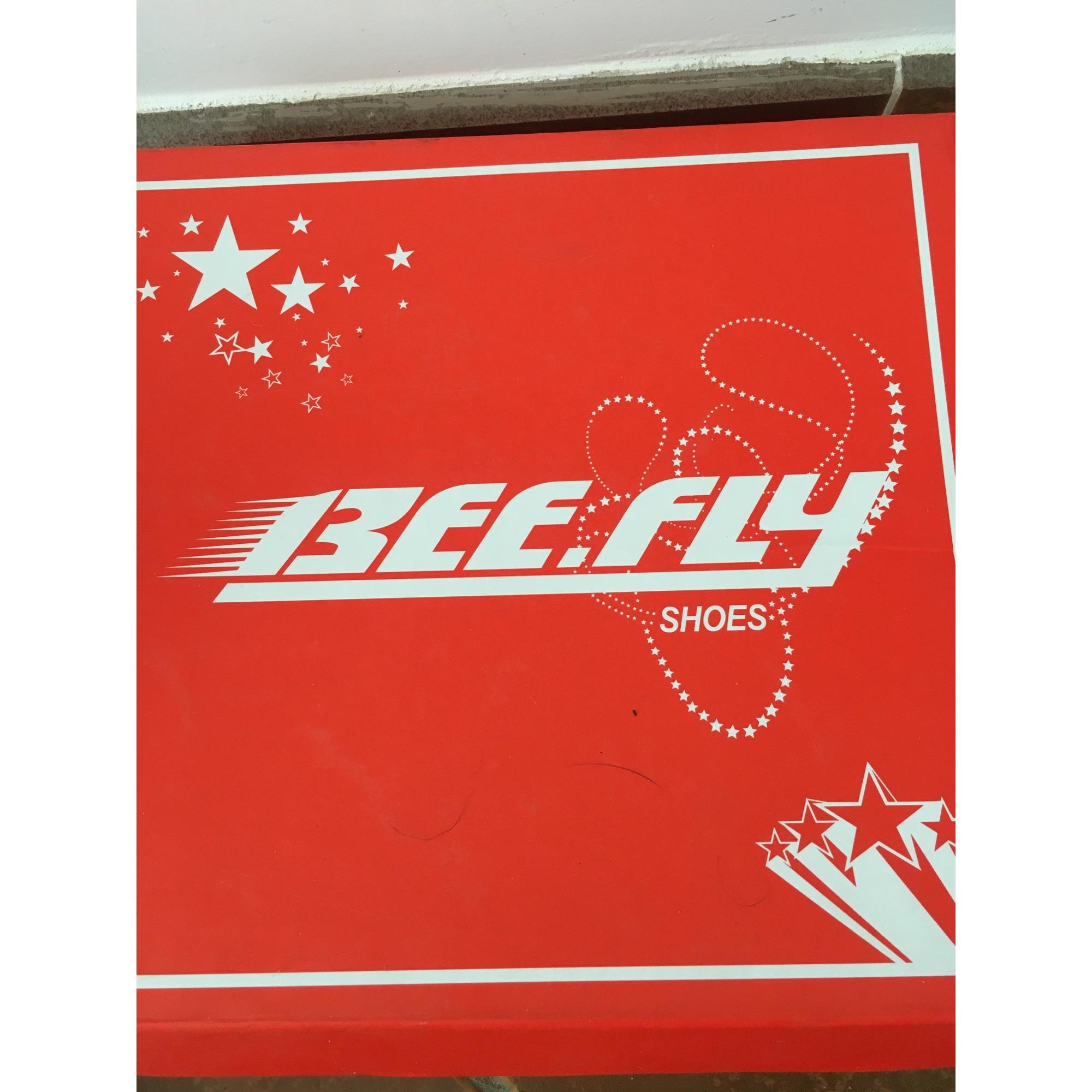 Sandales compensées BEE FLY Beige, camel