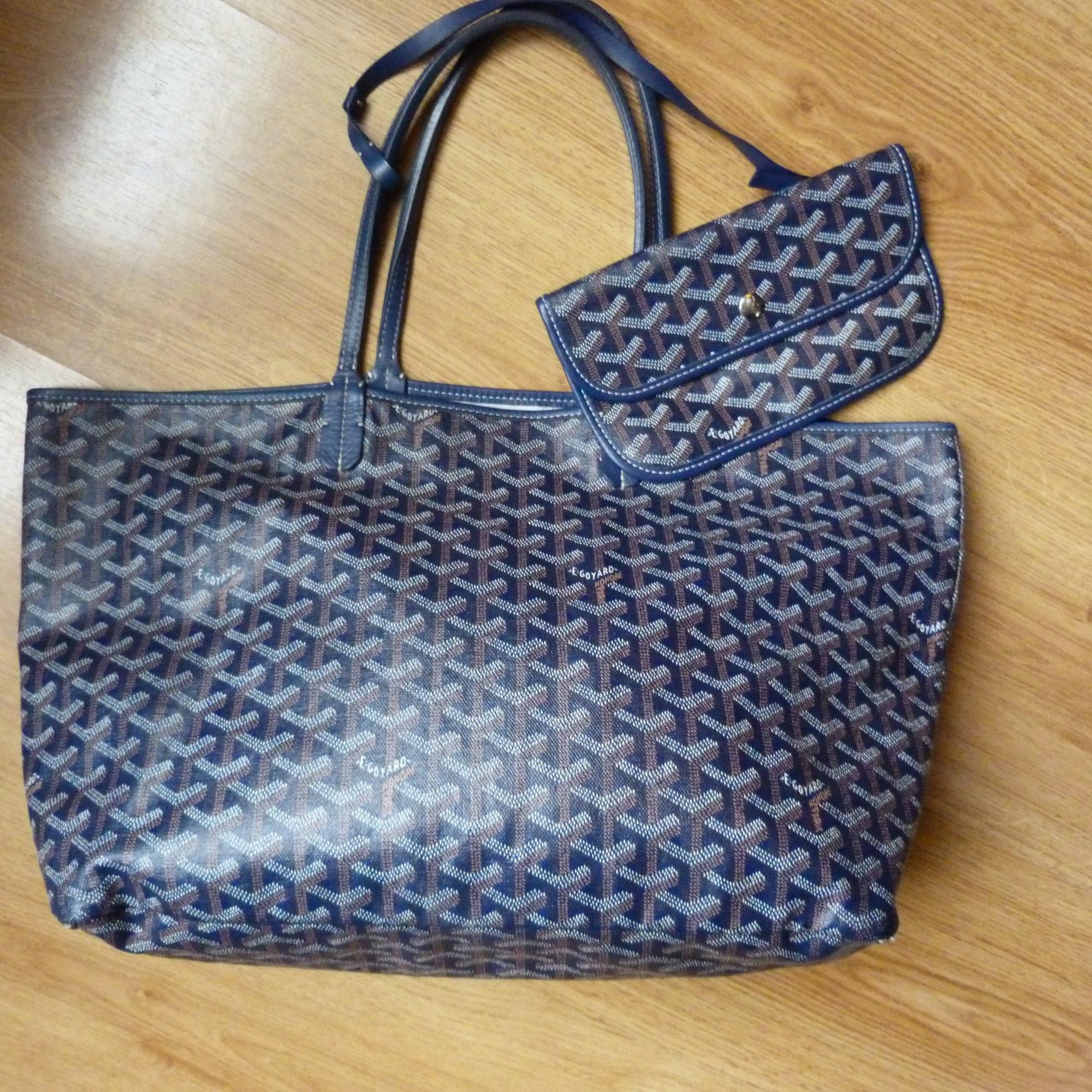 91102e2a39 Sac à main en cuir GOYARD bleu vendu par Louisa :)) - 1011453