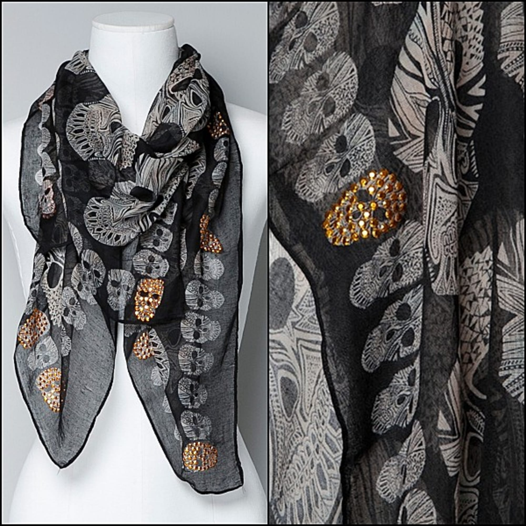 Foulard ZARA noir - 1023683 d60f091f274