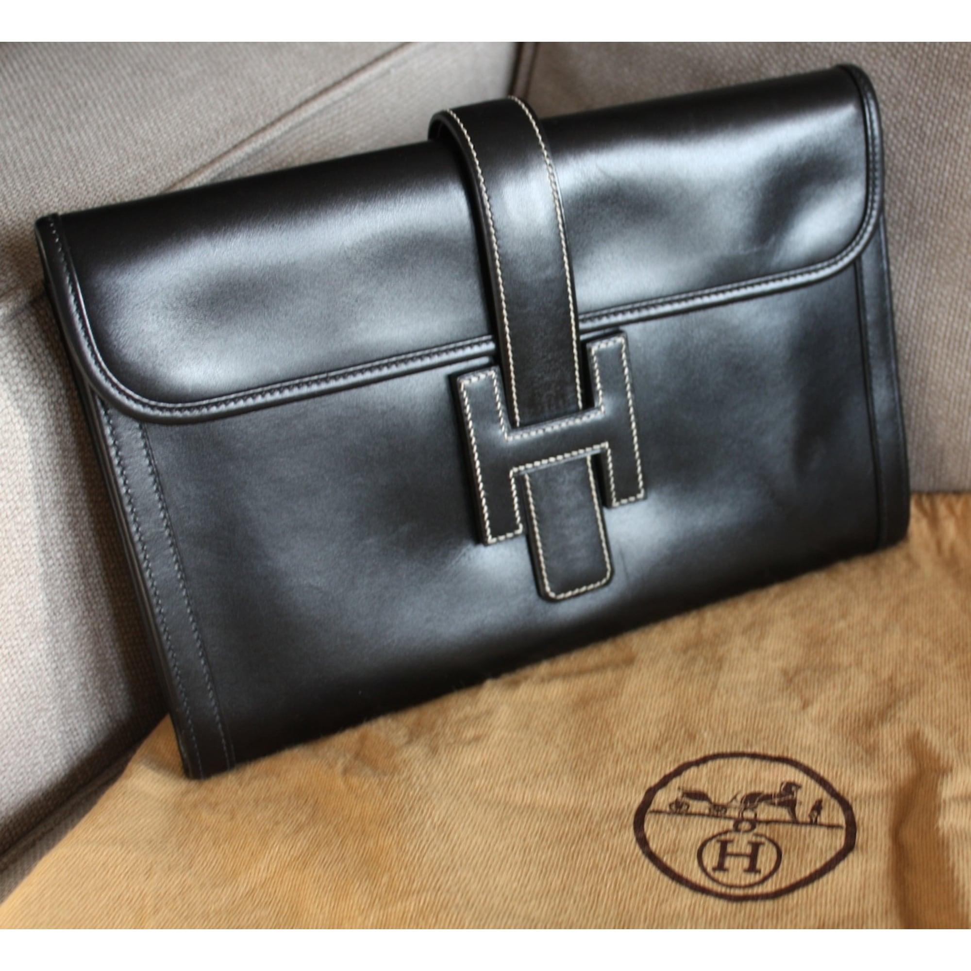 sac à main en cuir hermÈs noir vendu par h addict62563 - 1032373