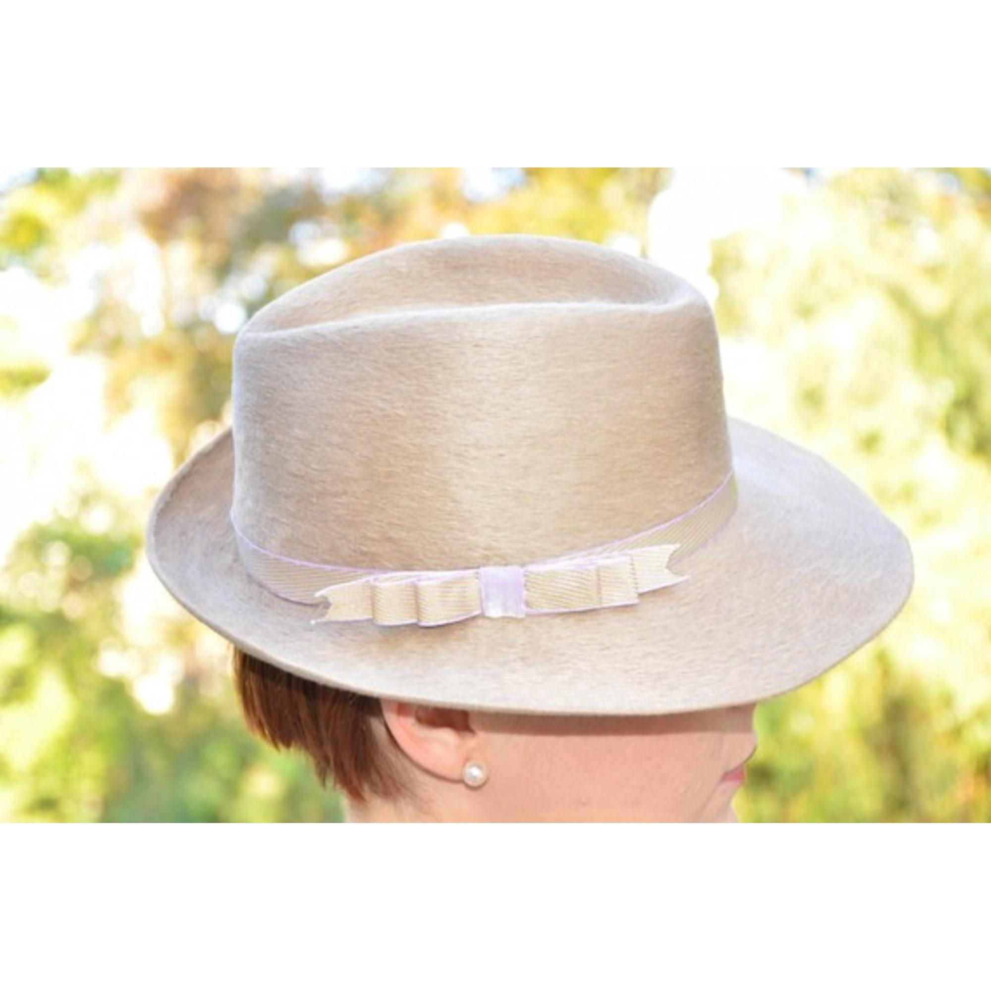 60cbf234e2 Chapeau COQUETTERIES & CIE 56 beige vendu par Julie bis142138 - 1035005