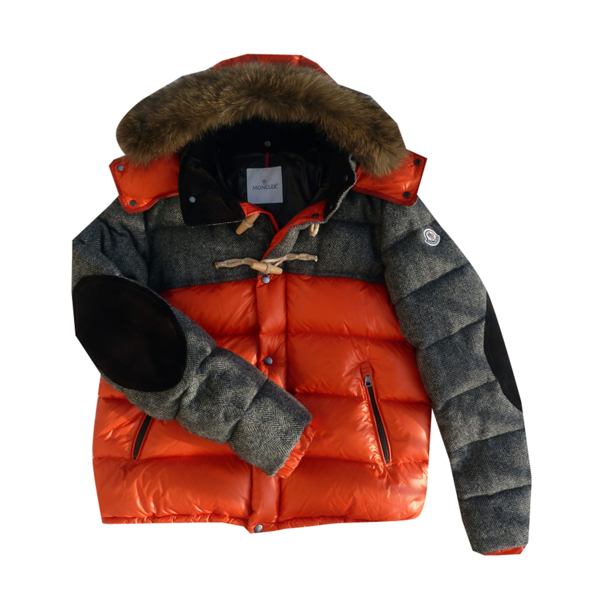 Doudoune MONCLER 56 (XL) orange vendu par Jocelyn255046 - 1083549 5016a47f4dd