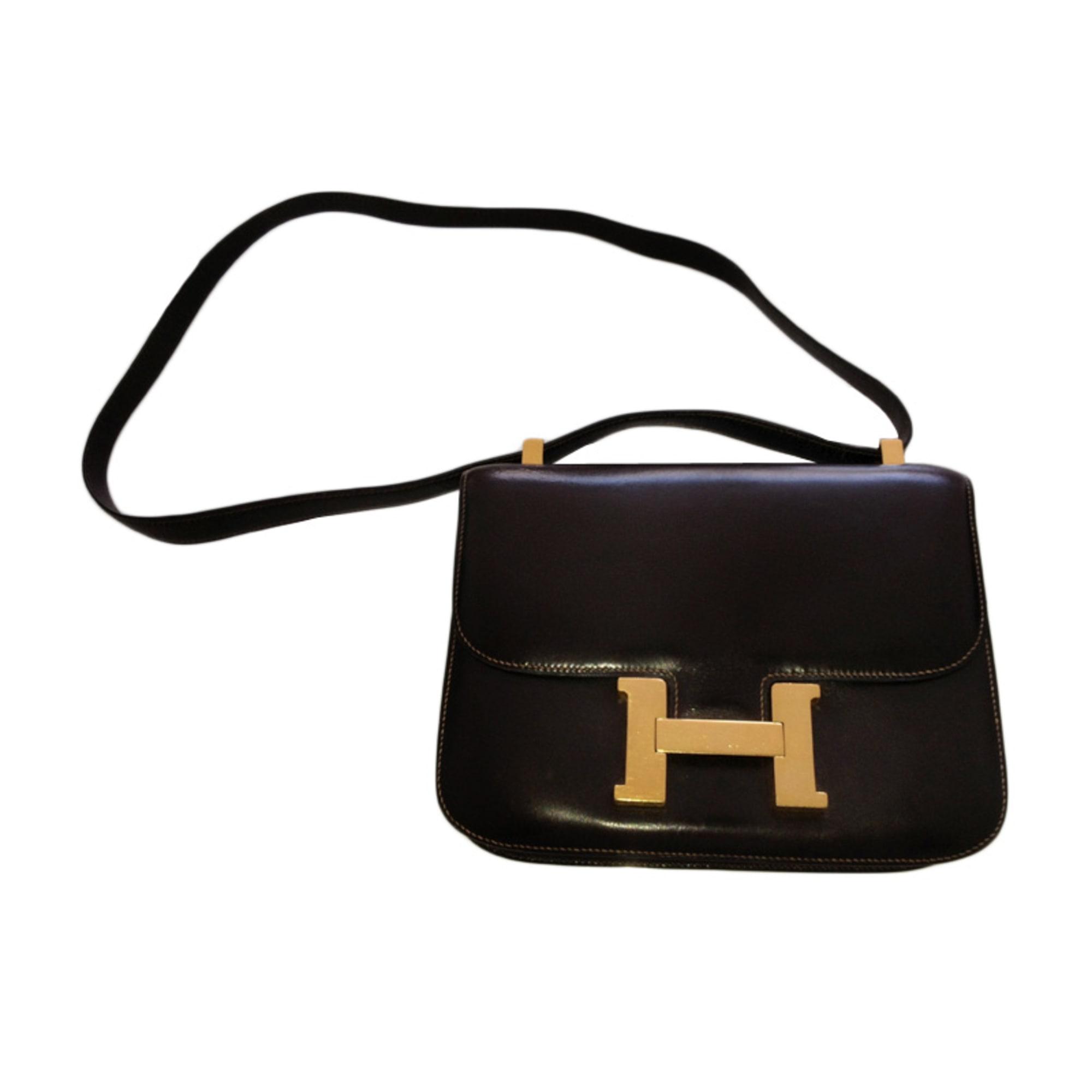 46860ea460 Sac en bandoulière en cuir HERMÈS marron vendu par Flora 1114736 ...