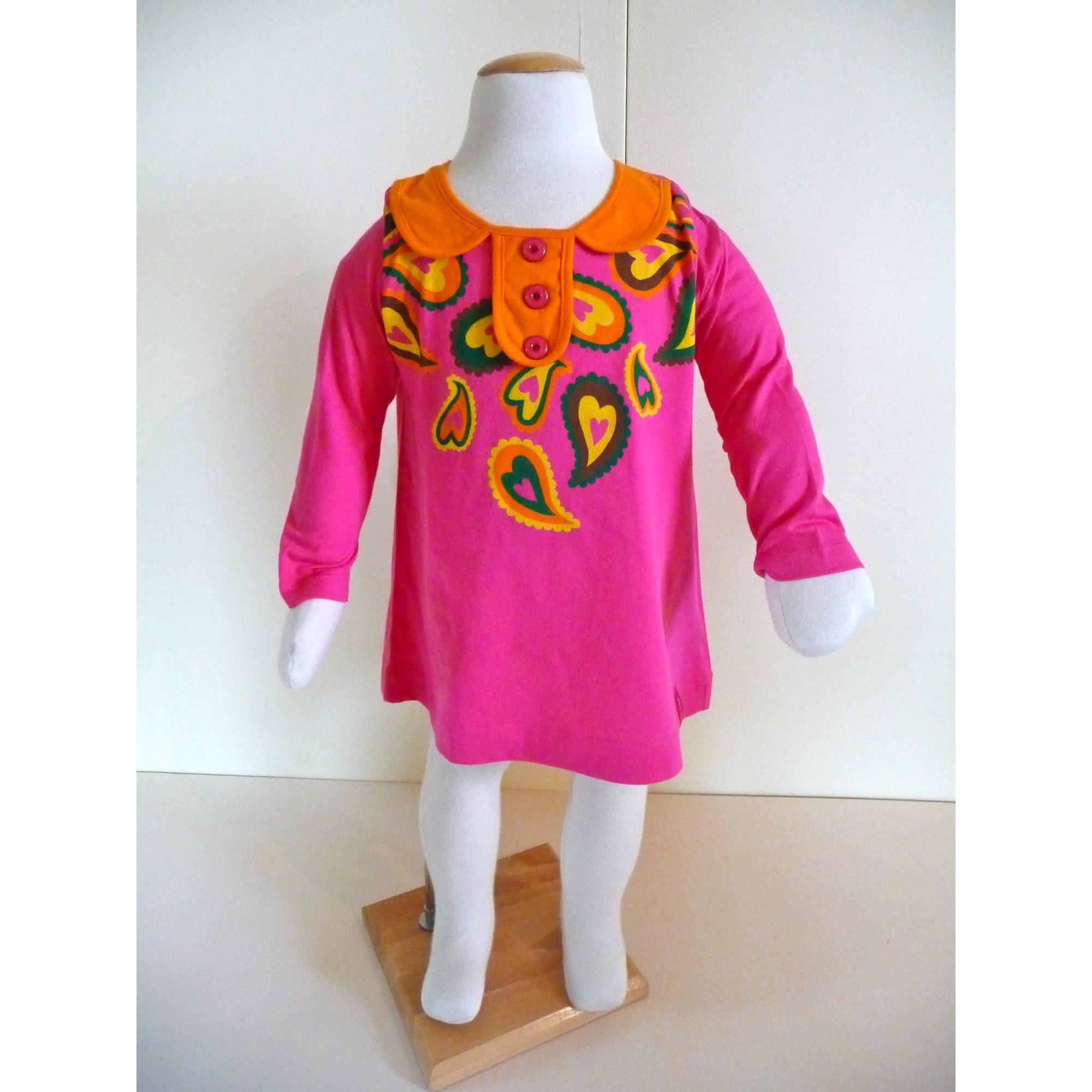 Top, Tee-shirt AGATHA RUIZ DE LA PRADA coton orange 2 ans