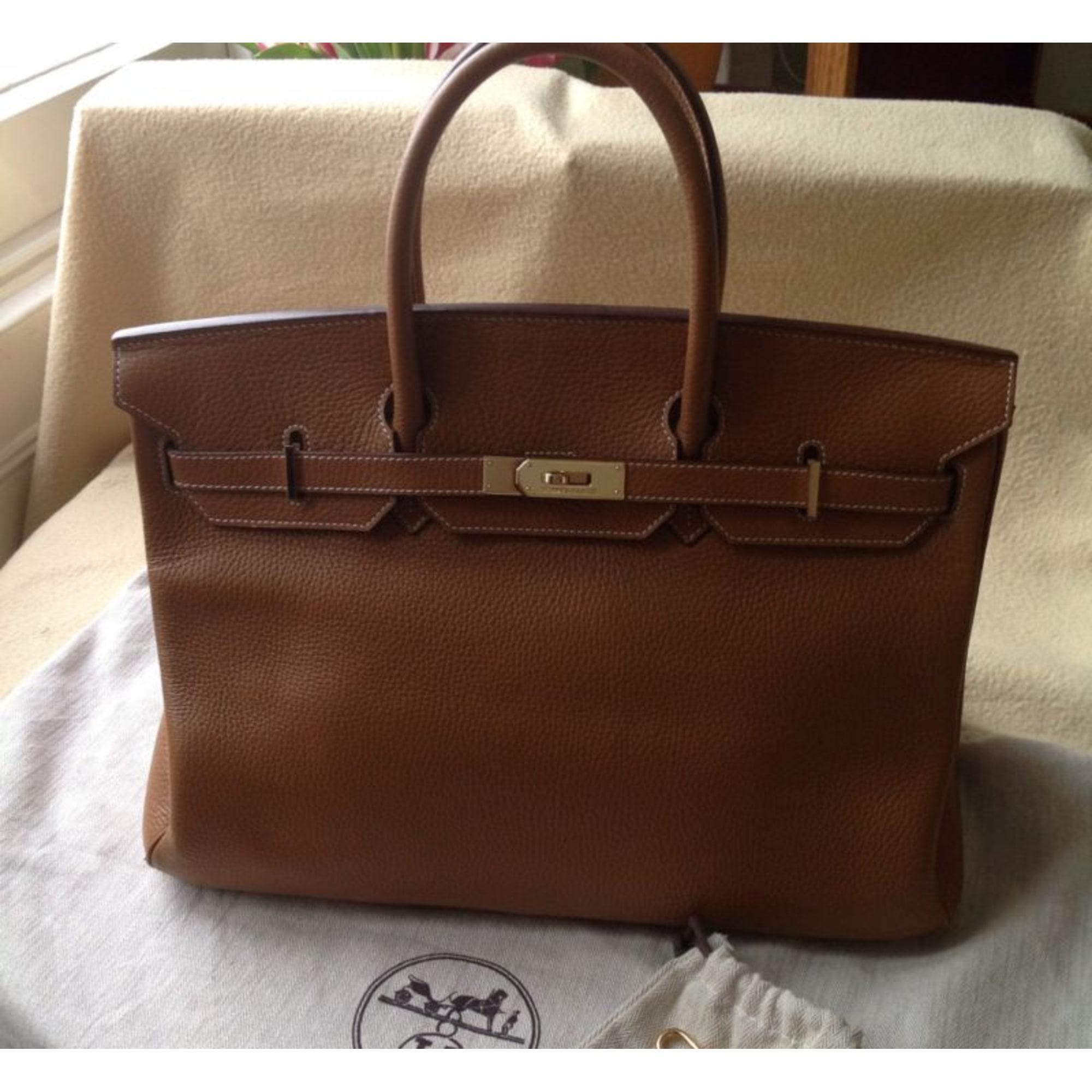 853ccb6ff0 Sac à main en cuir HERMÈS marron vendu par Folie243176 - 1123764