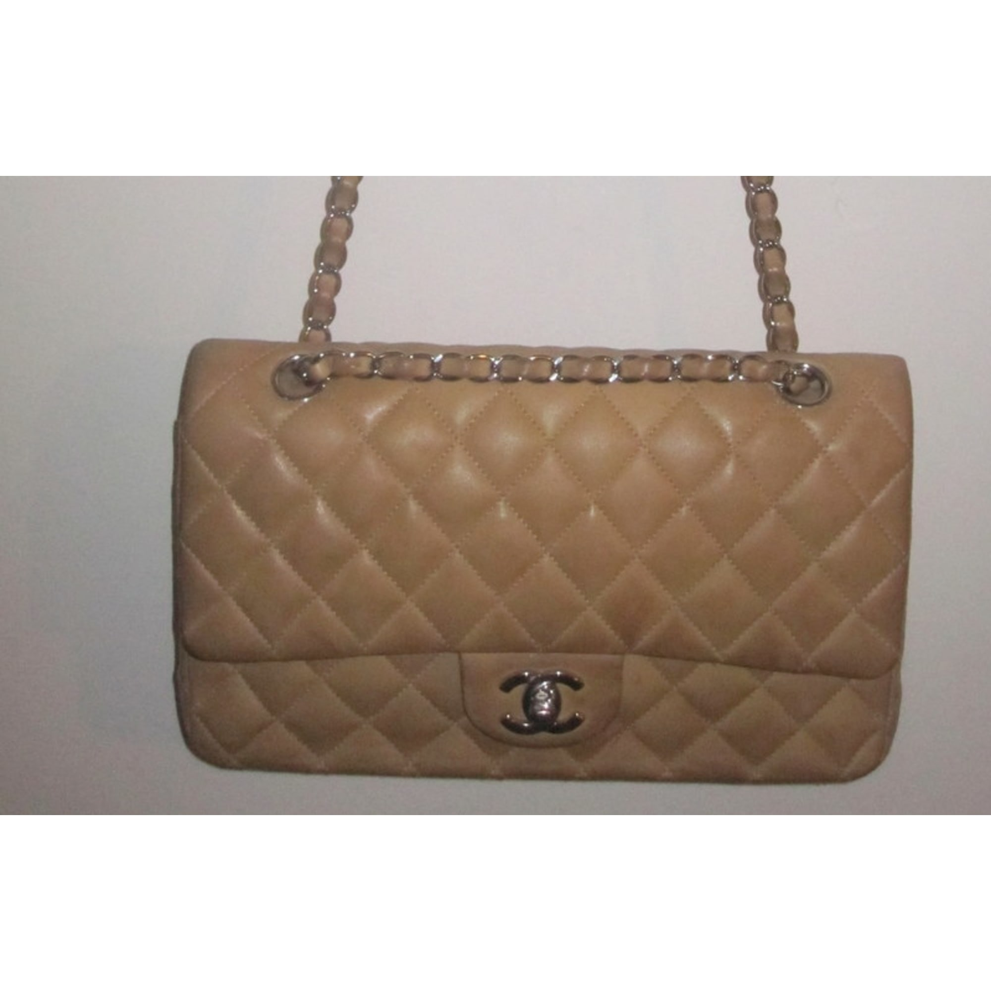 4b537bb9a3 Sac à main en cuir CHANEL beige vendu par Big pie92439 - 1227490