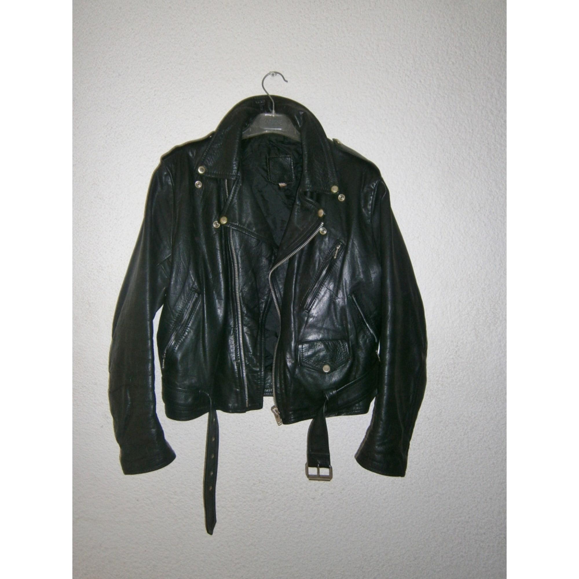 0278032c69dc2 Blouson en cuir REAL LEATHER 38 (M, T2) noir vendu par Krystie - 1253150