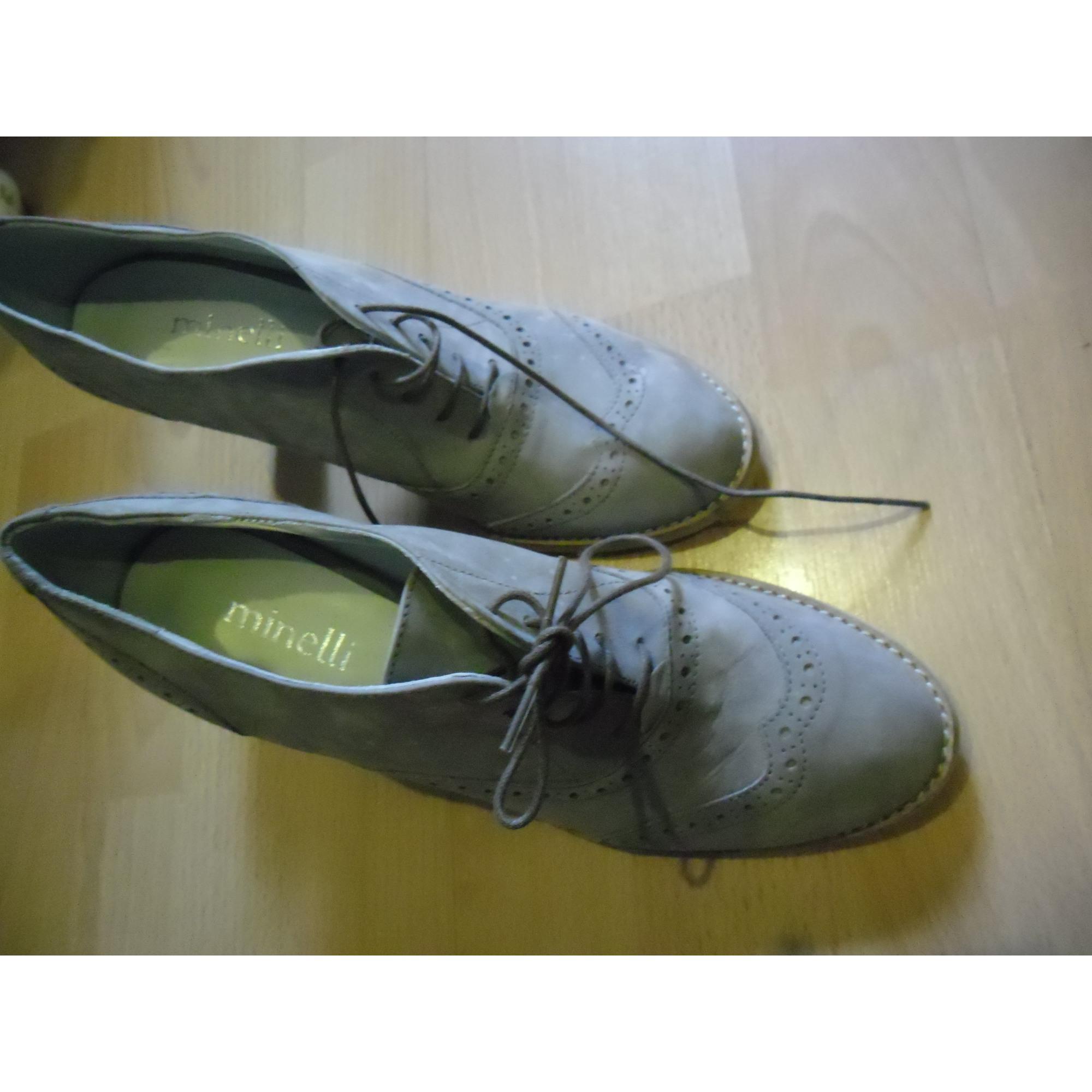 Chaussures à lacets  MINELLI Violet, mauve, lavande