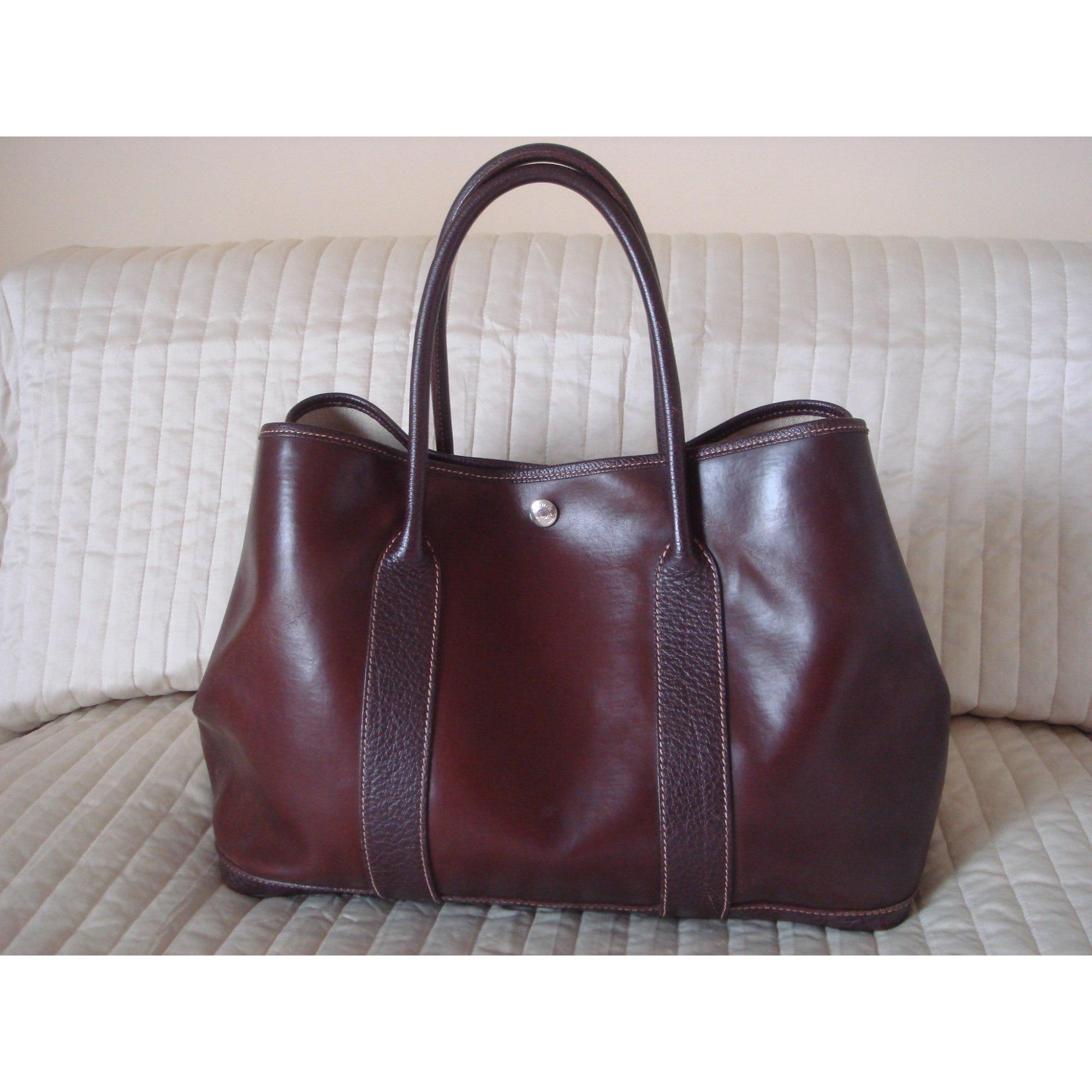 sac à main en cuir hermÈs marron - 1305148