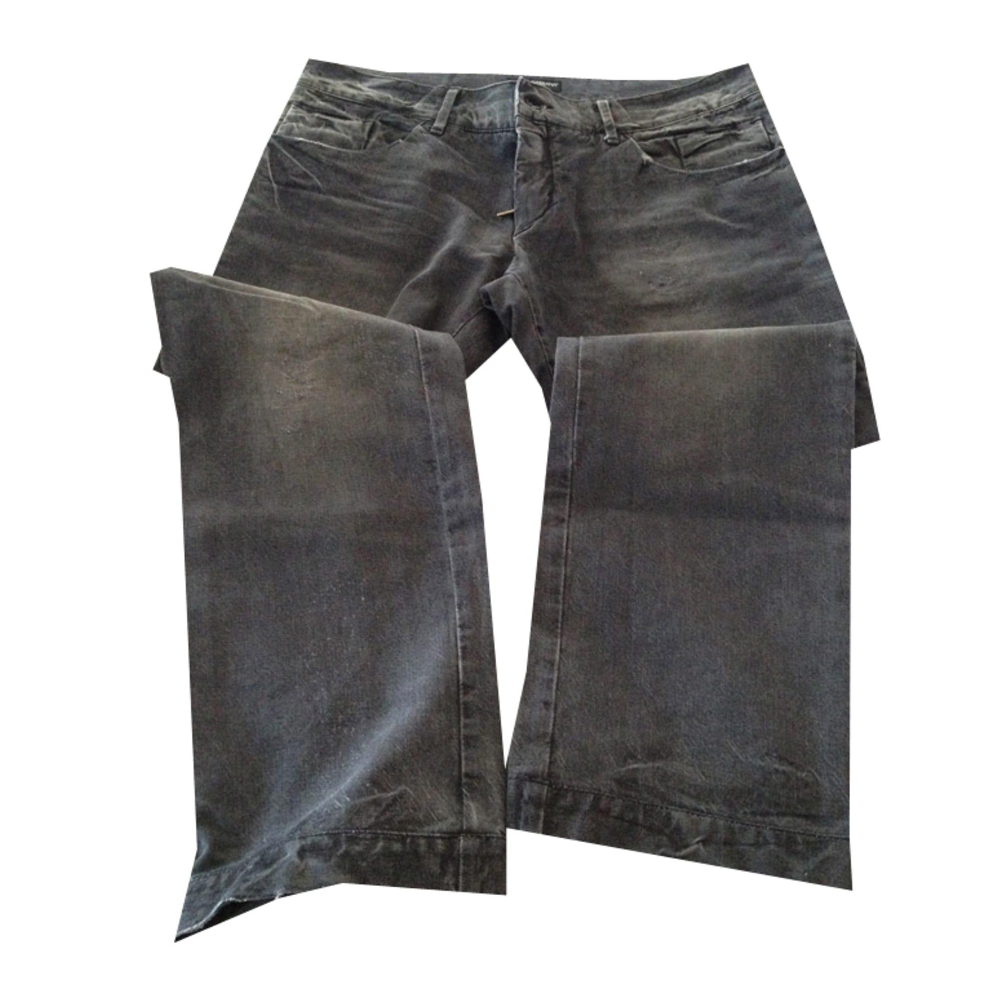 Jeans droit DOLCE   GABBANA W42 (T 52) noir vendu par Barbara ... e790eda319c9