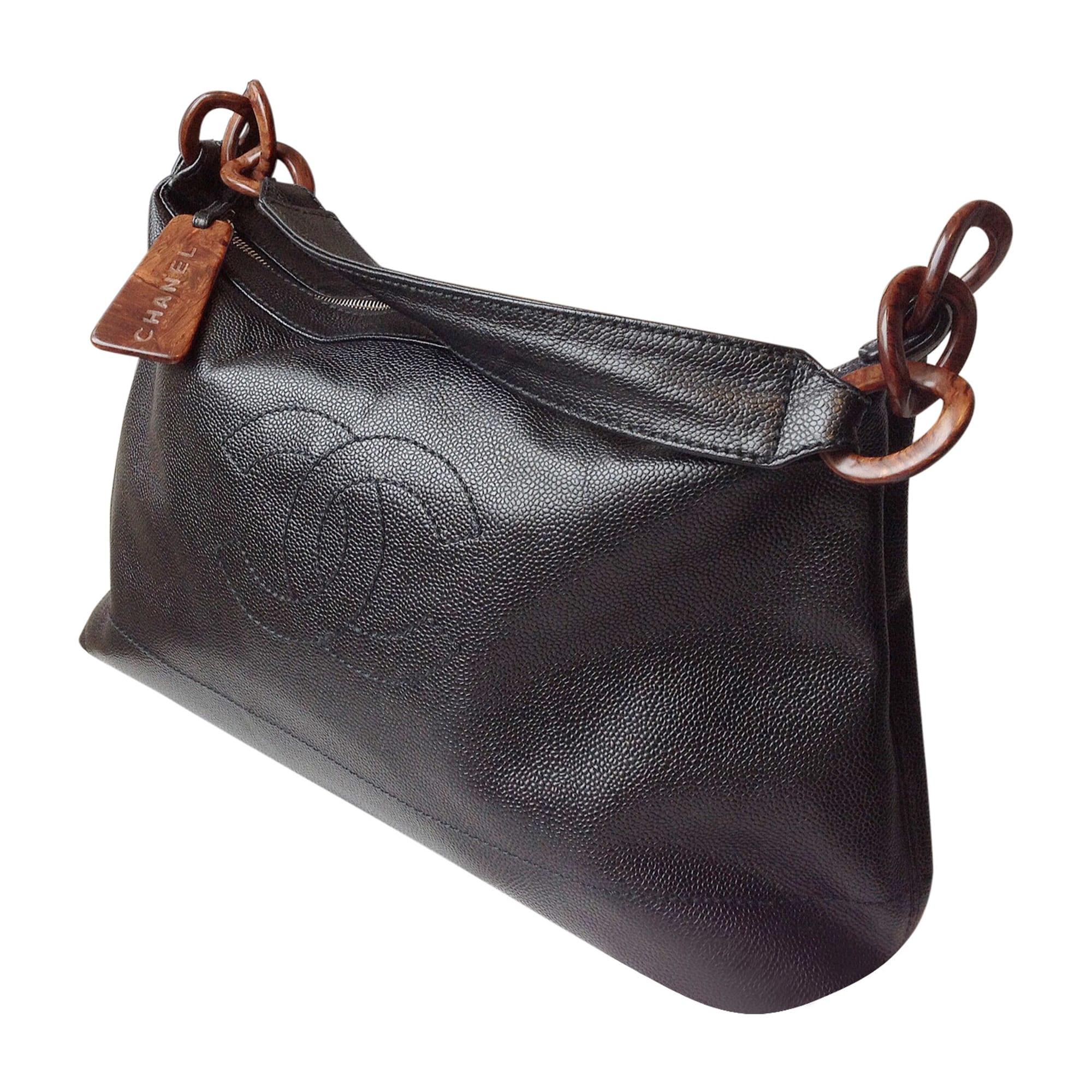 021e4fb95a Sac à main en cuir CHANEL noir - 1346202