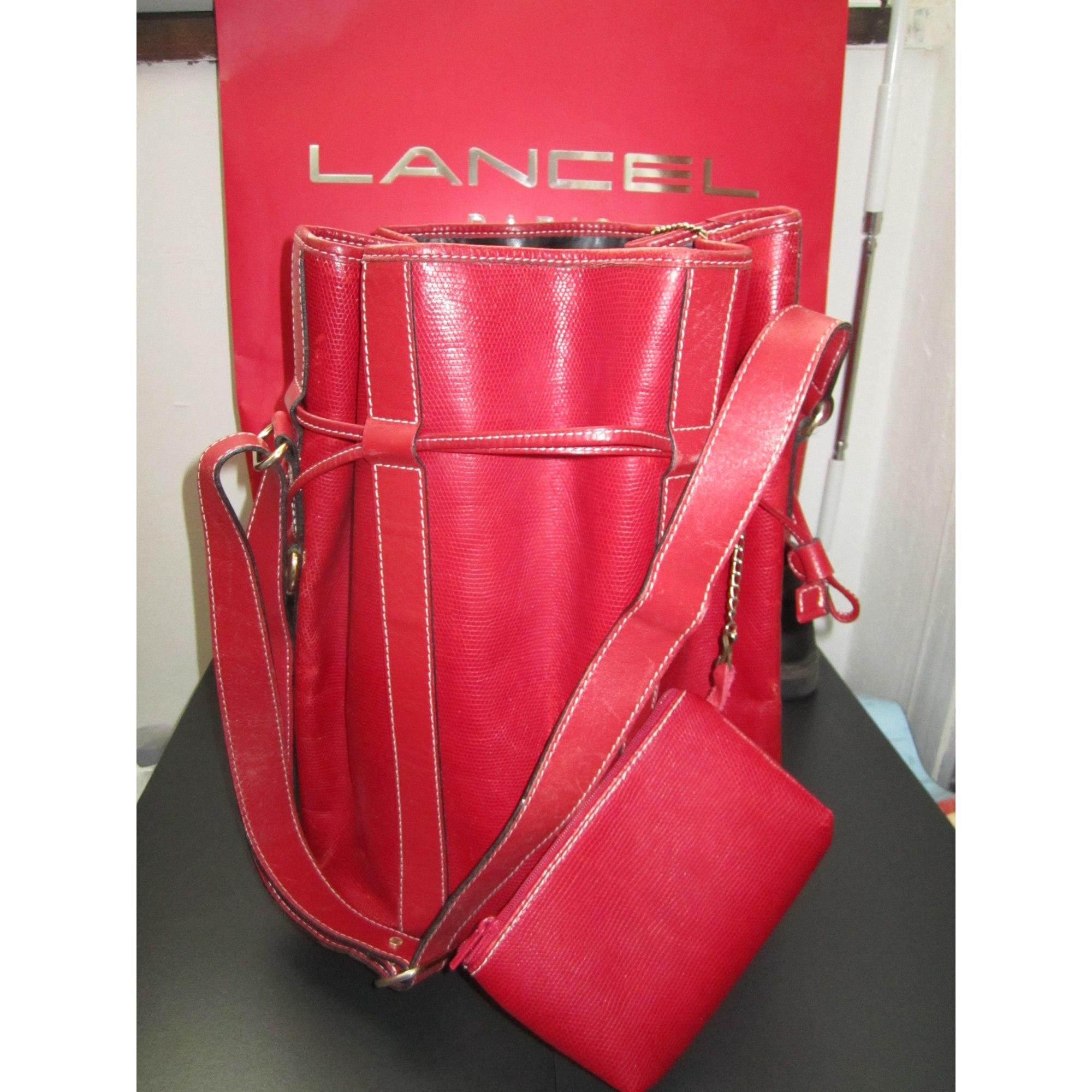 6b76133af49 Sac en bandoulière en cuir LANCEL rouge - 1365856