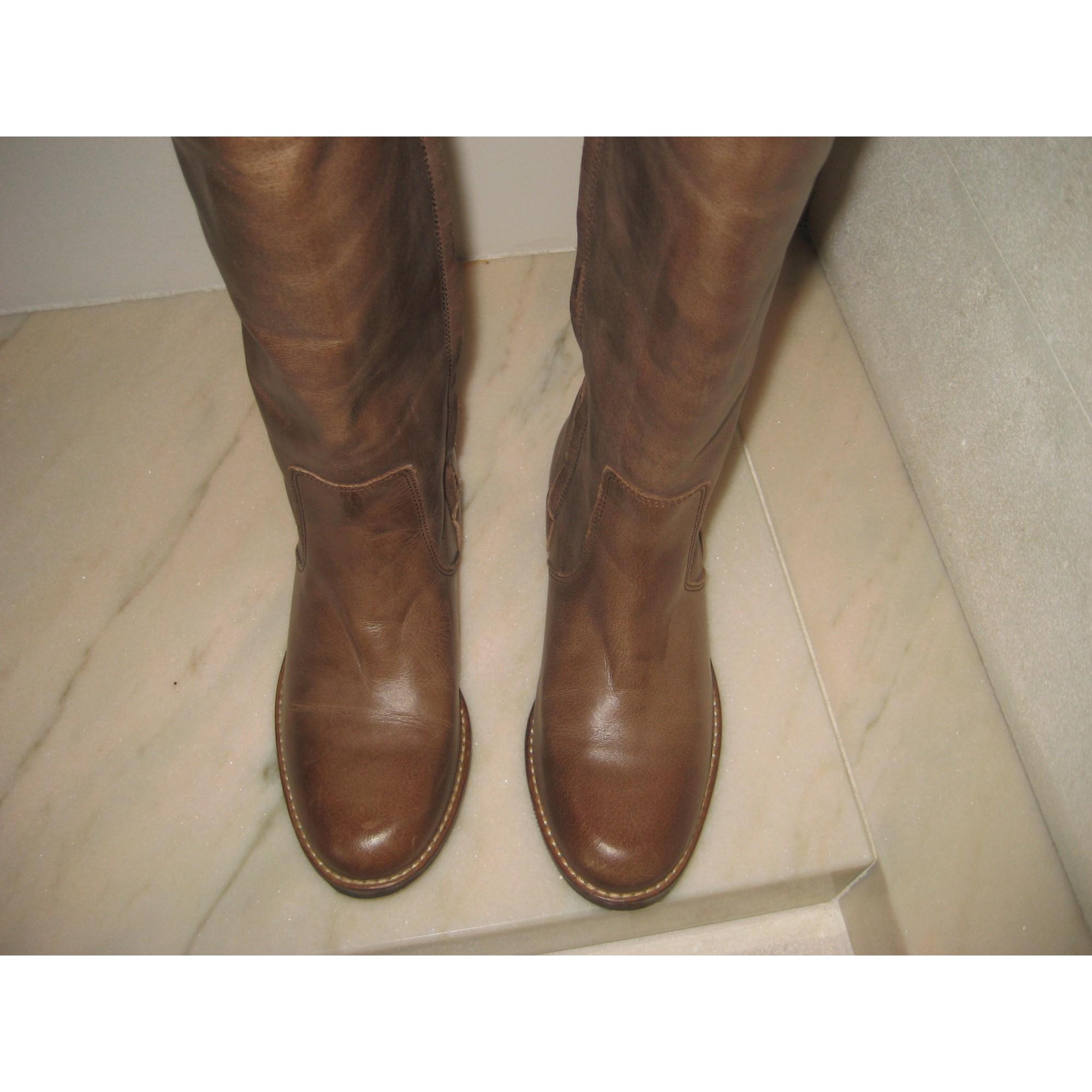 Bottes cavalières BUFFALO cuir kaki 41 TE0Y1MGzH1